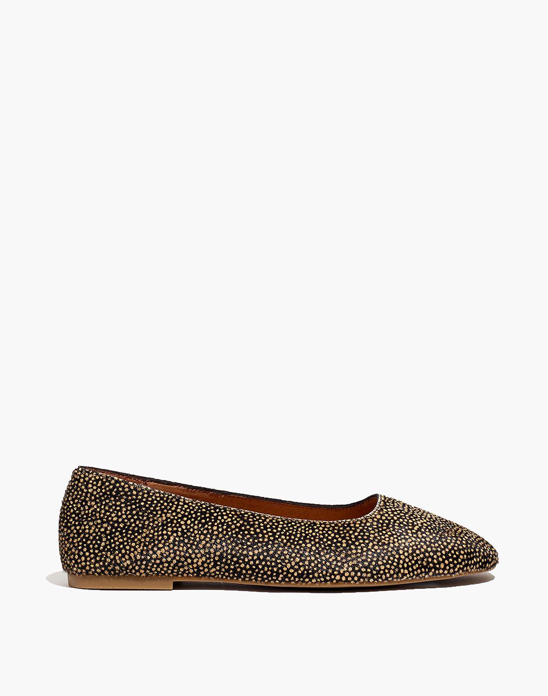 The Cory Flat in Spotted Calf Hair 1