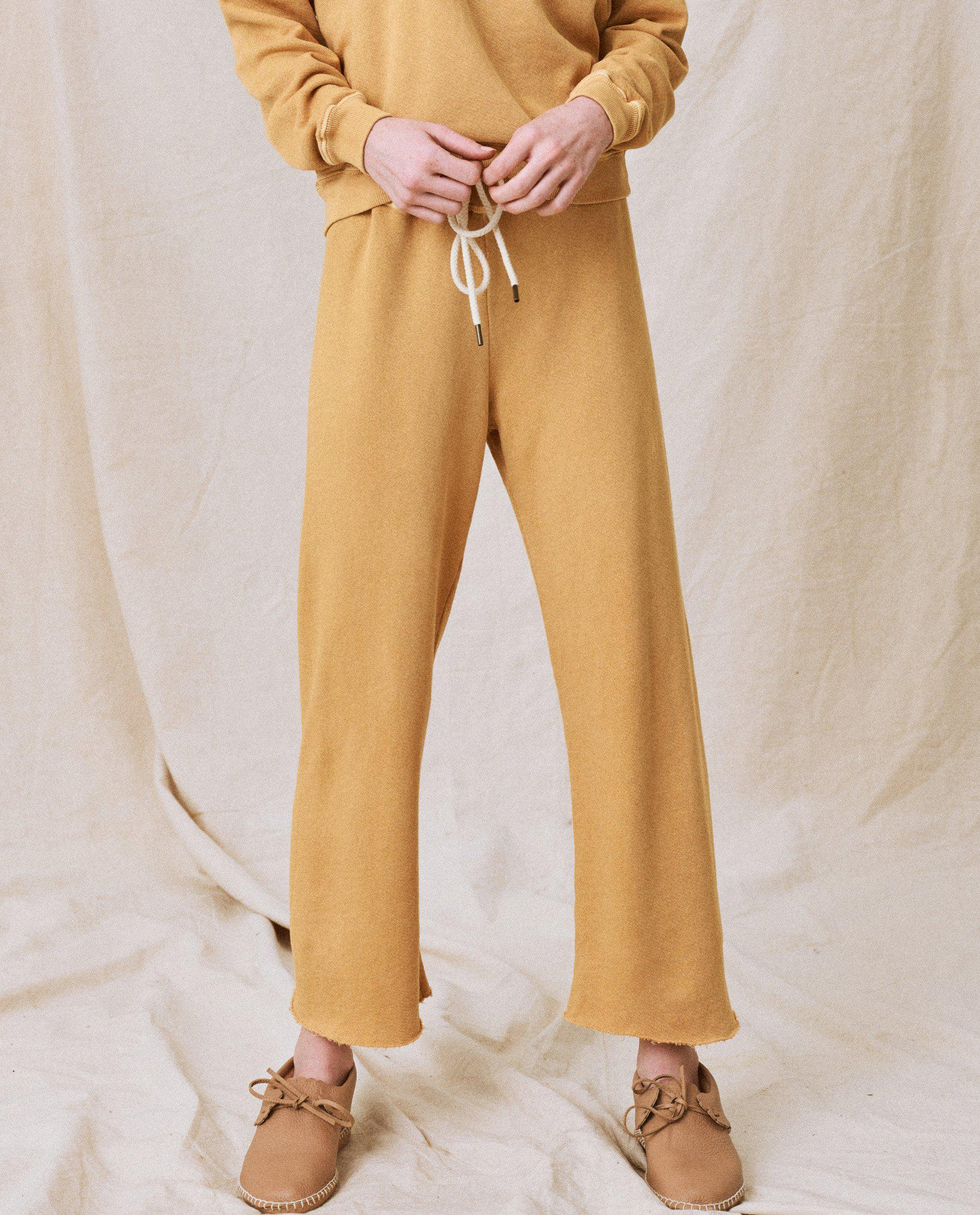 The Wide Leg Cropped Sweatpant. -- Honey 0