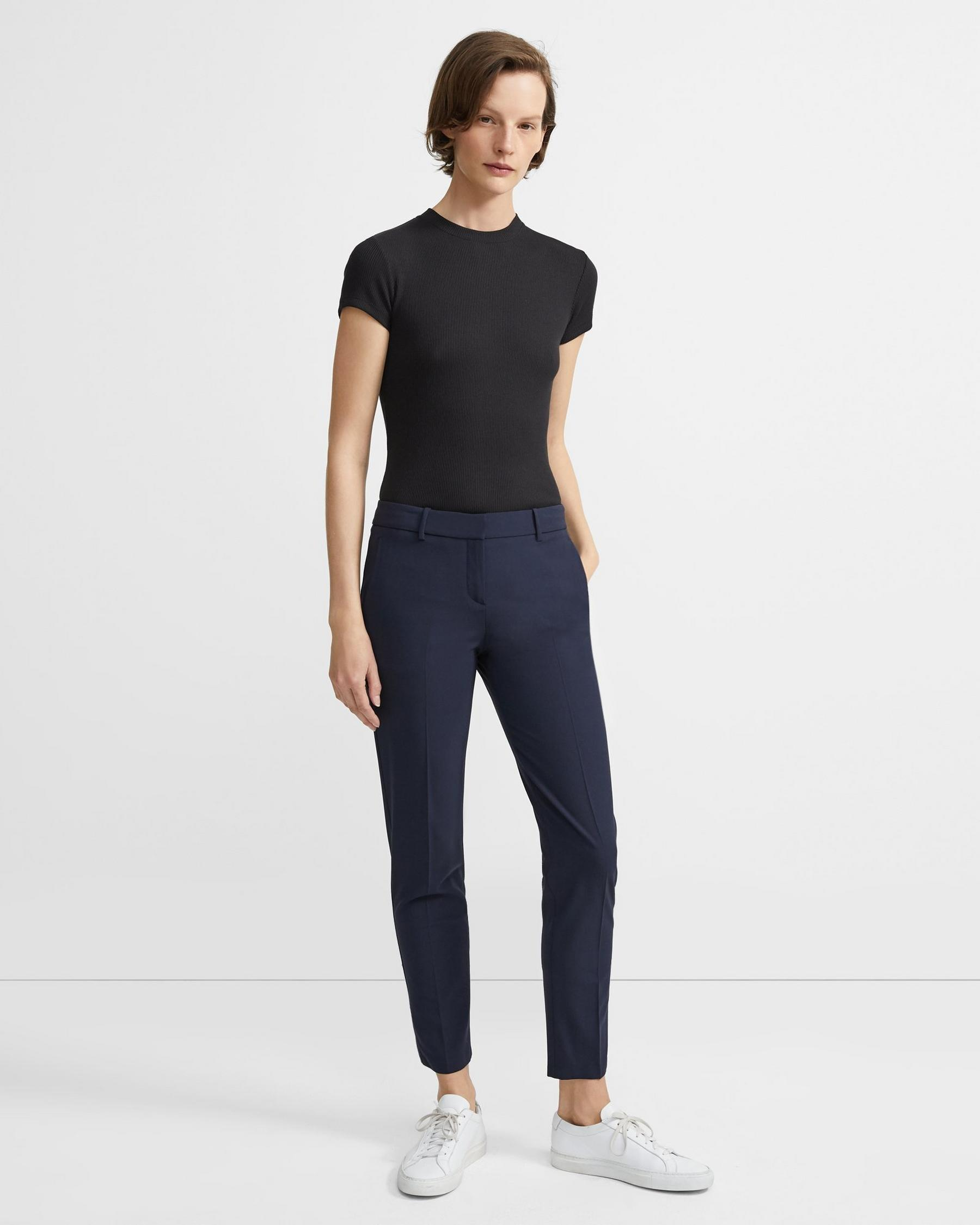 Classic Cropped Pant in Stretch Wool 3