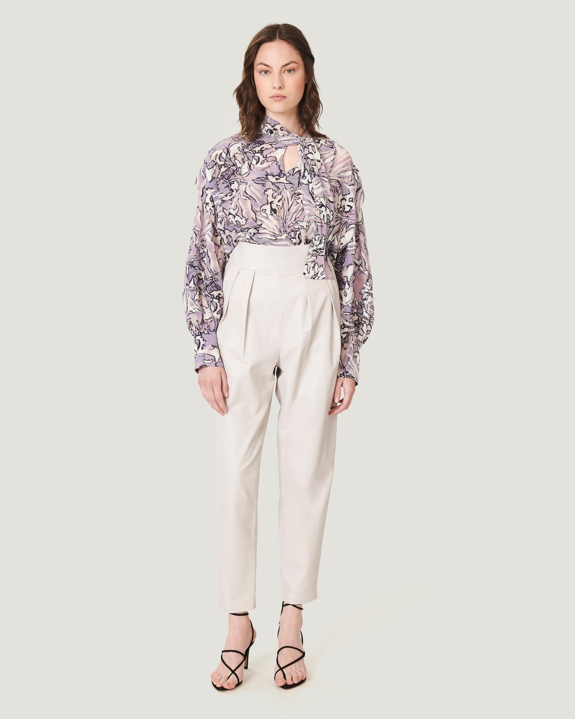 BISHO TAILORED HIGH WAIST LEATHER TROUSERS
