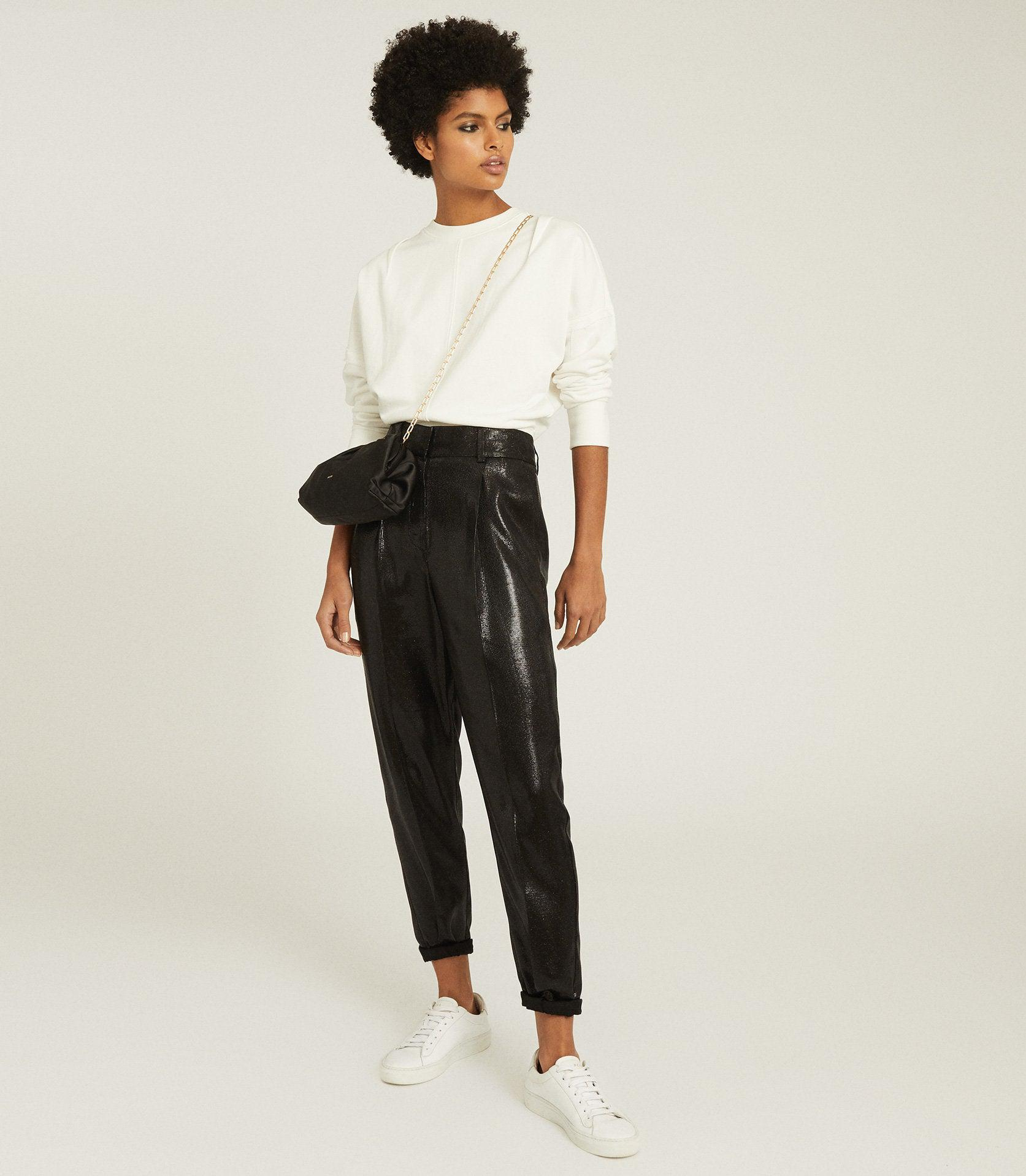 ABBY - HIGH WAISTED SHIMMER TROUSERS