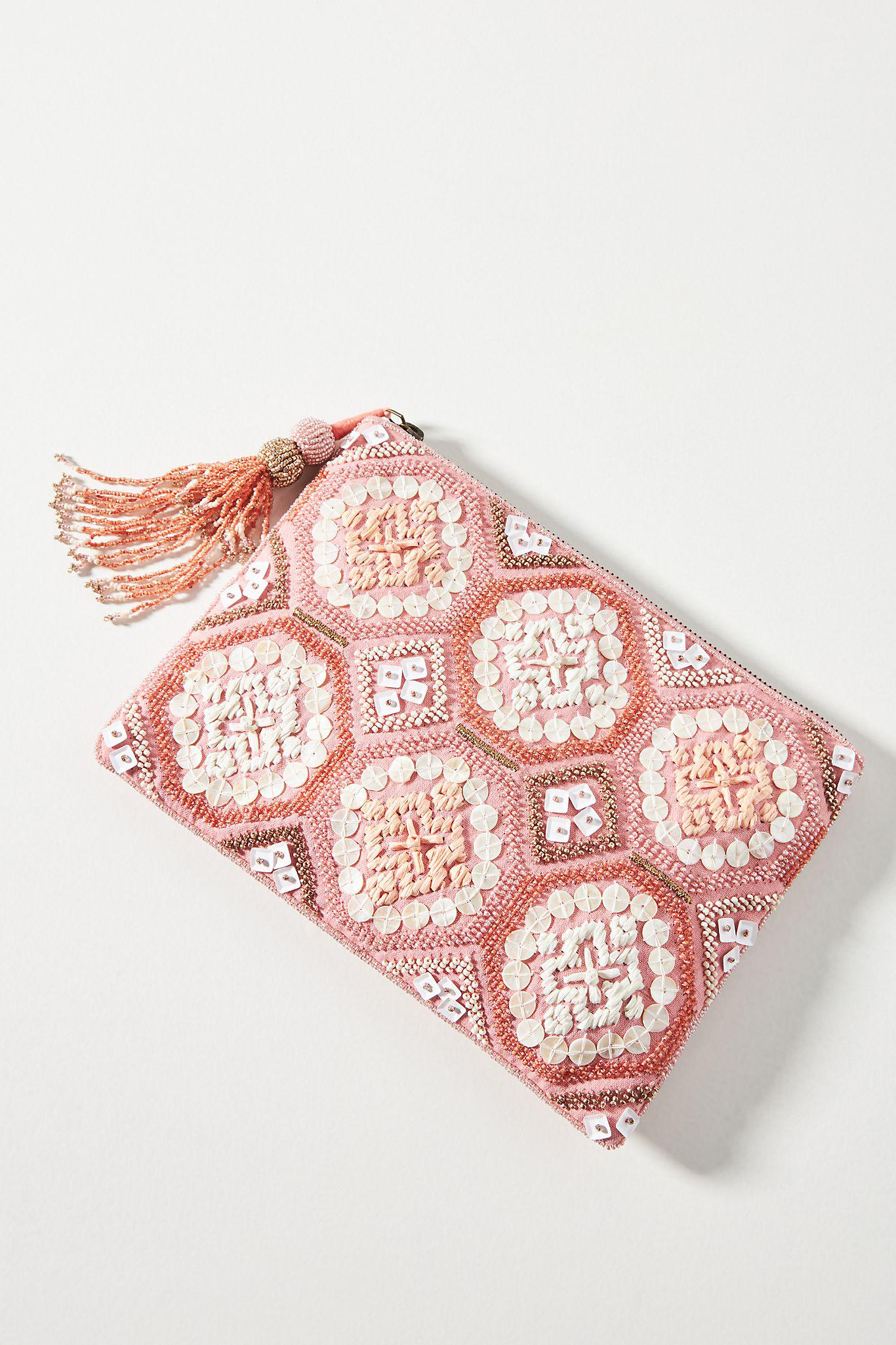 Mosaic Embellished Pouch