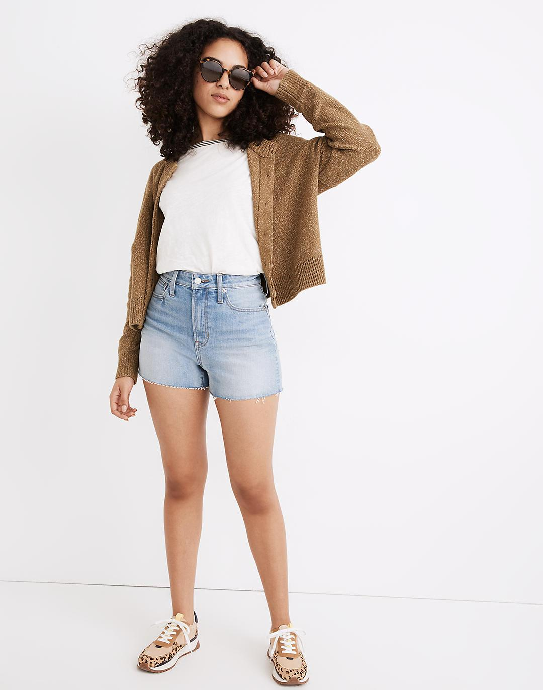 The Curvy Perfect Jean Short in Baylis Wash
