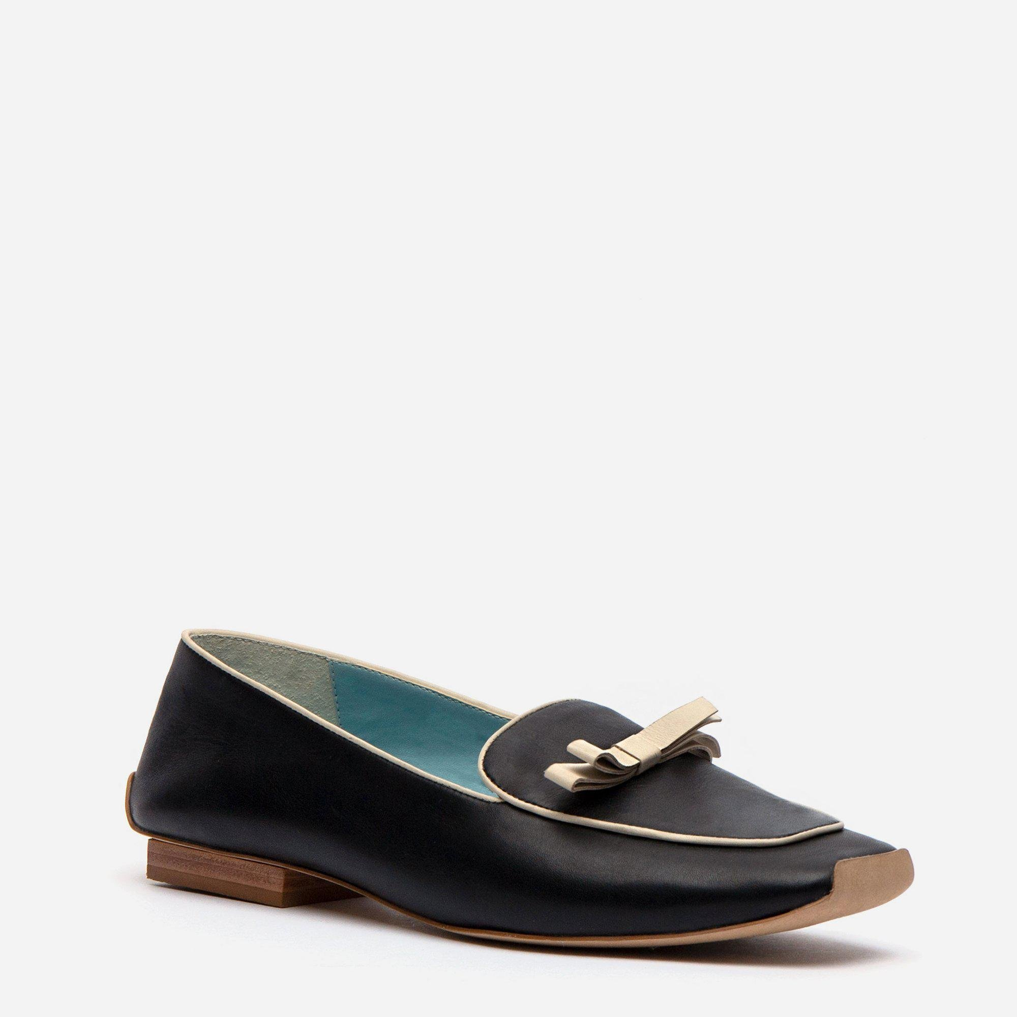 Suzanne Loafer Leather Black Oyster 1