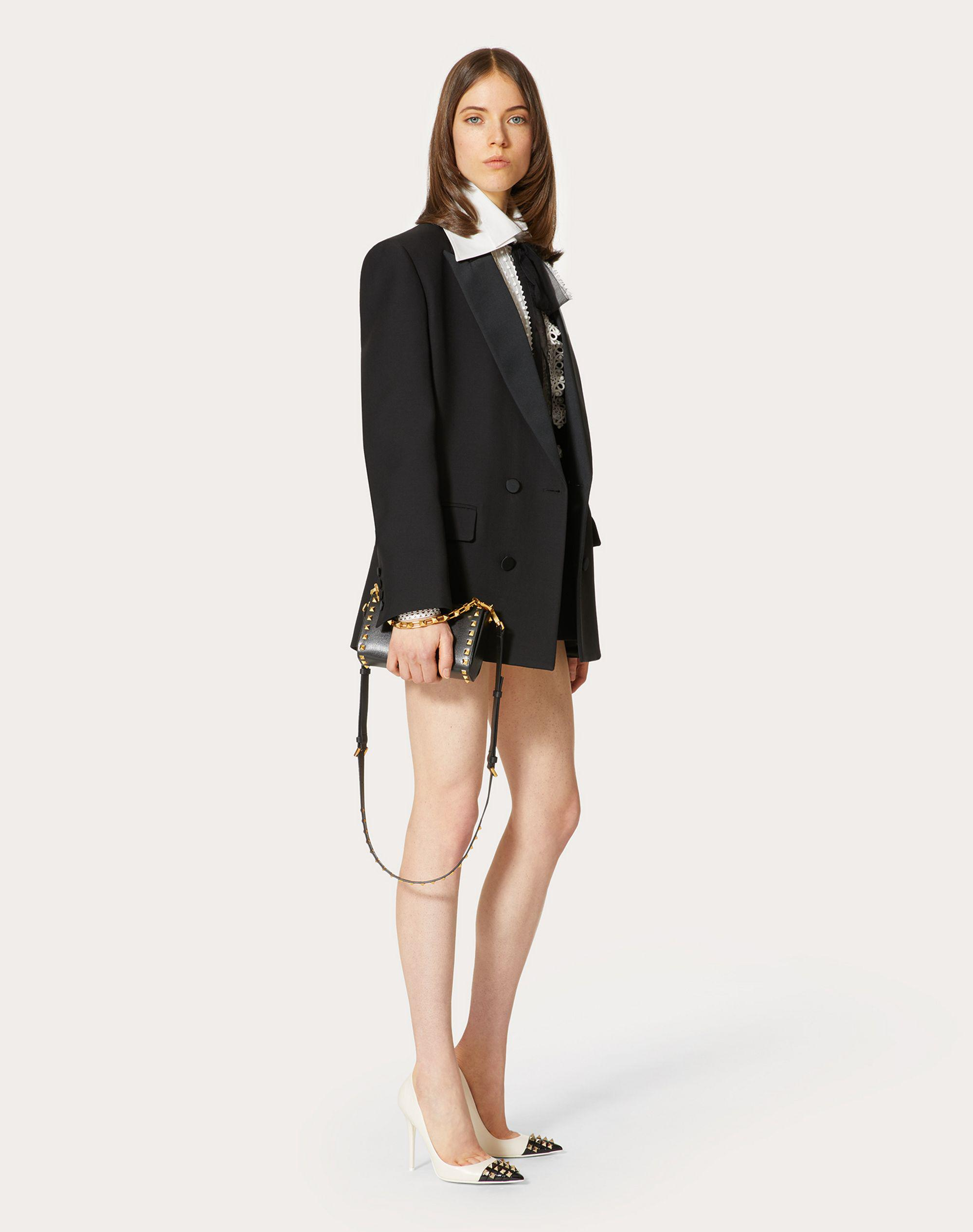 TUXEDO JACKET IN CREPE COUTURE