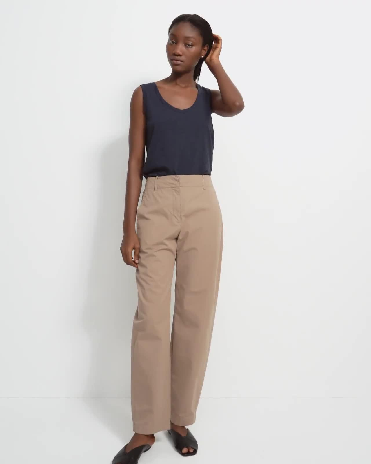 Curve Pant in Garment-Dyed Cotton 4