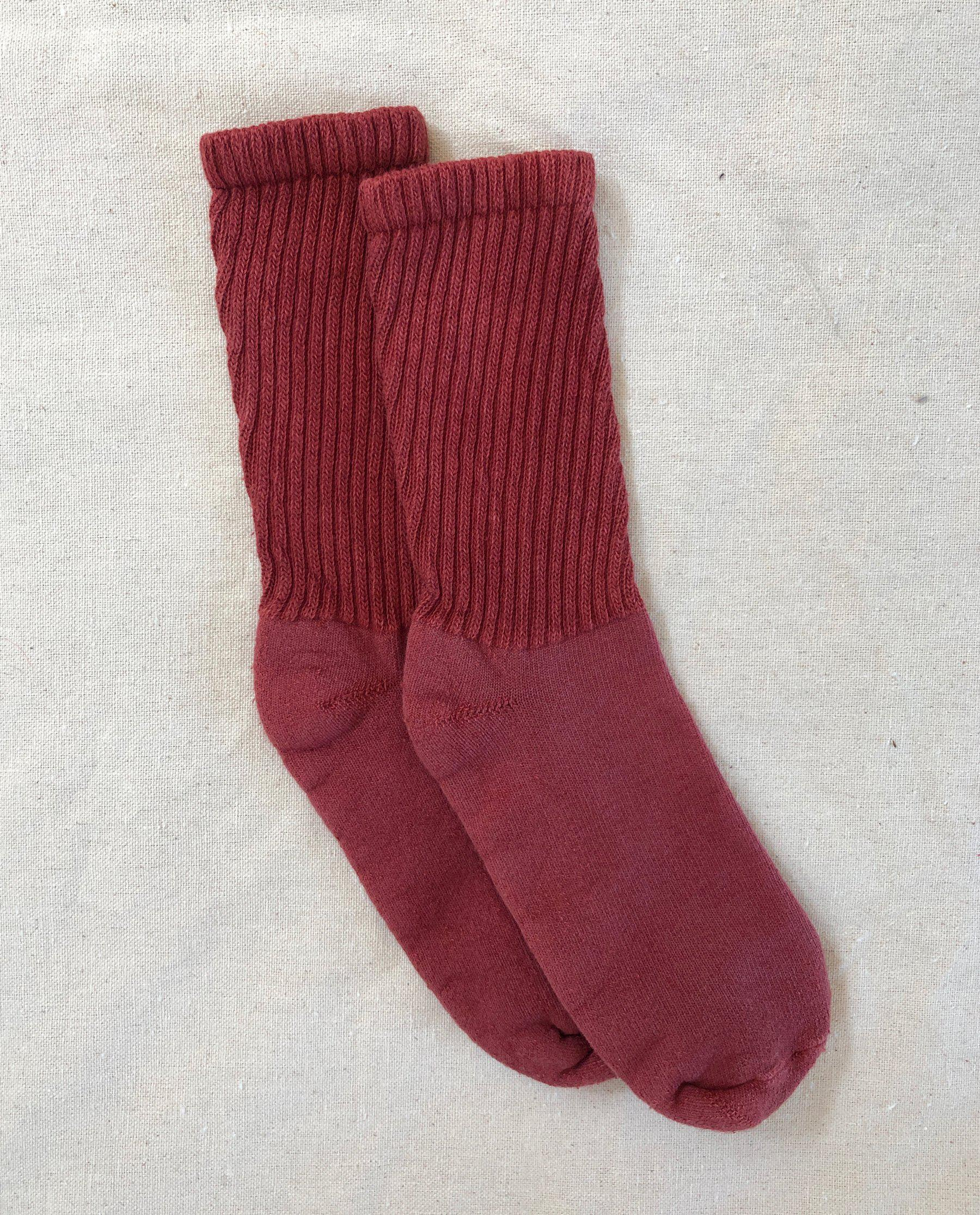 The Plant-Dyed Sock. -- Deep Madder Root