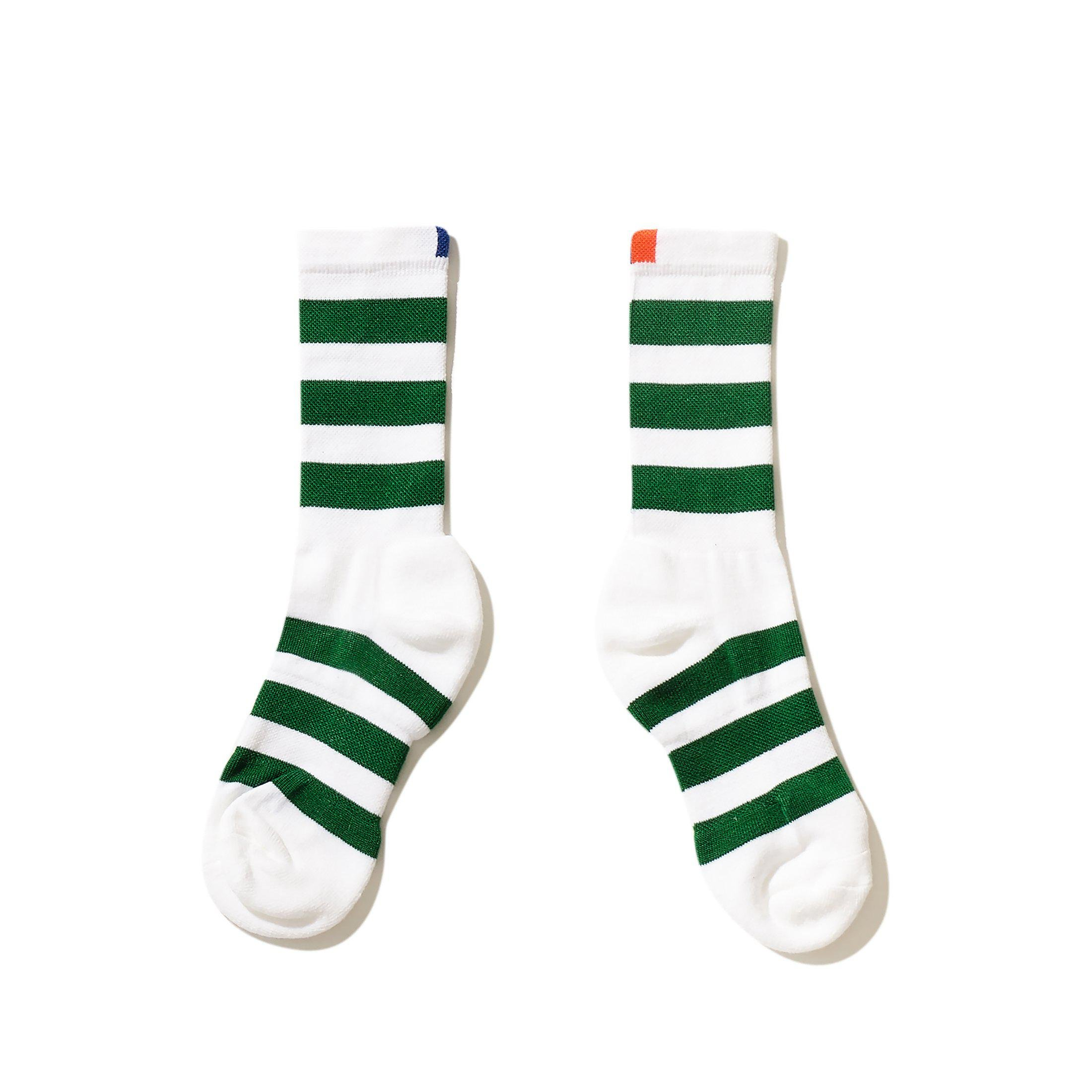The Women's Rugby Sock - White/Green