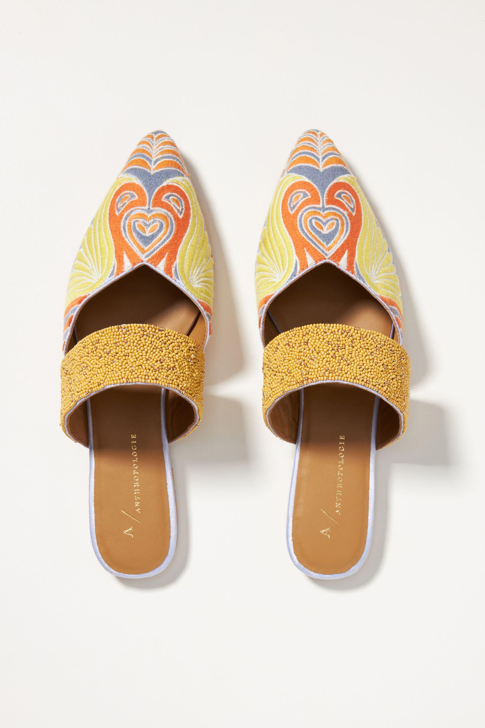 Butterfly Embroidered Mules 1