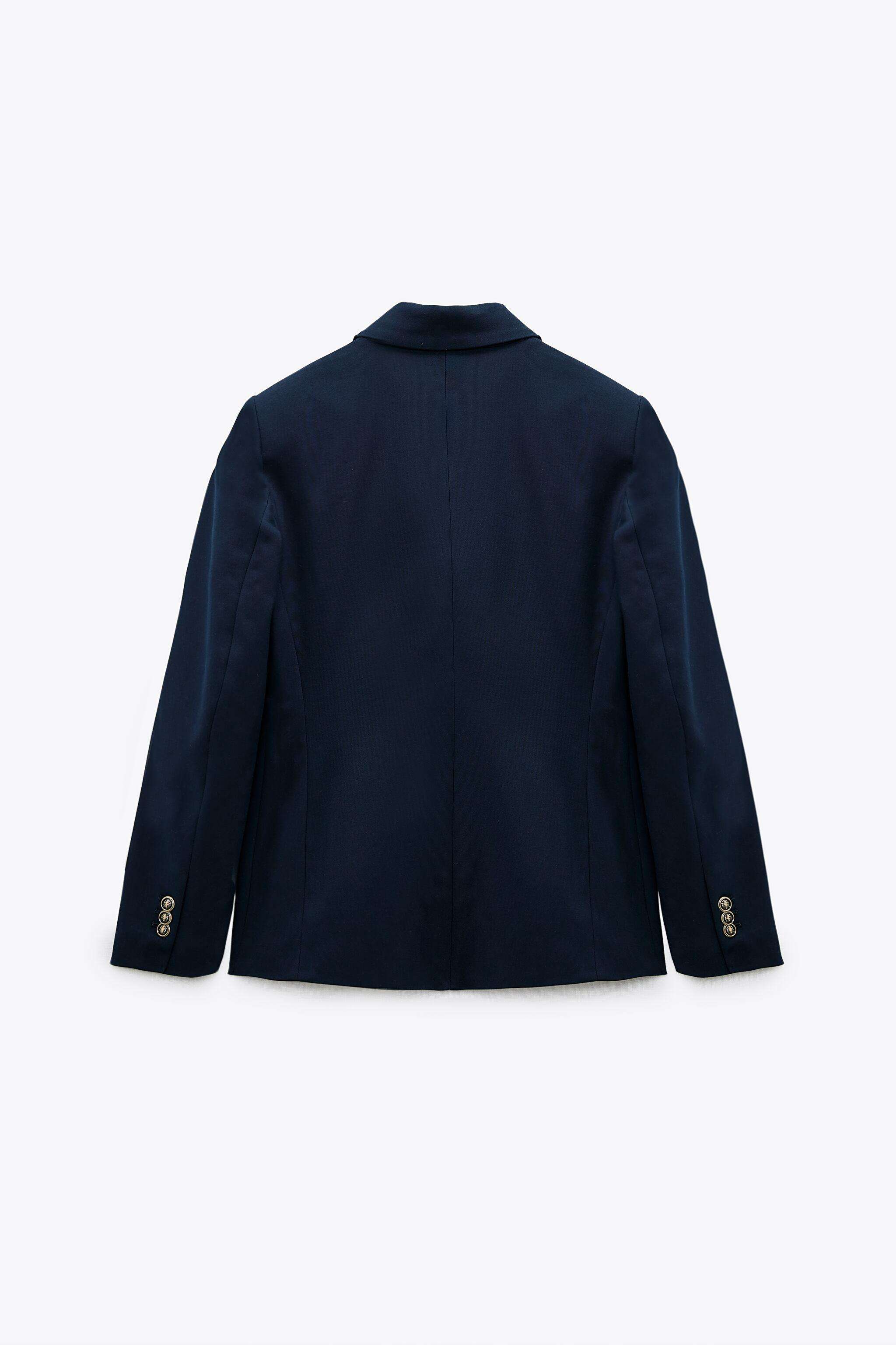 DOUBLE BREASTED BUTTONED BLAZER 7