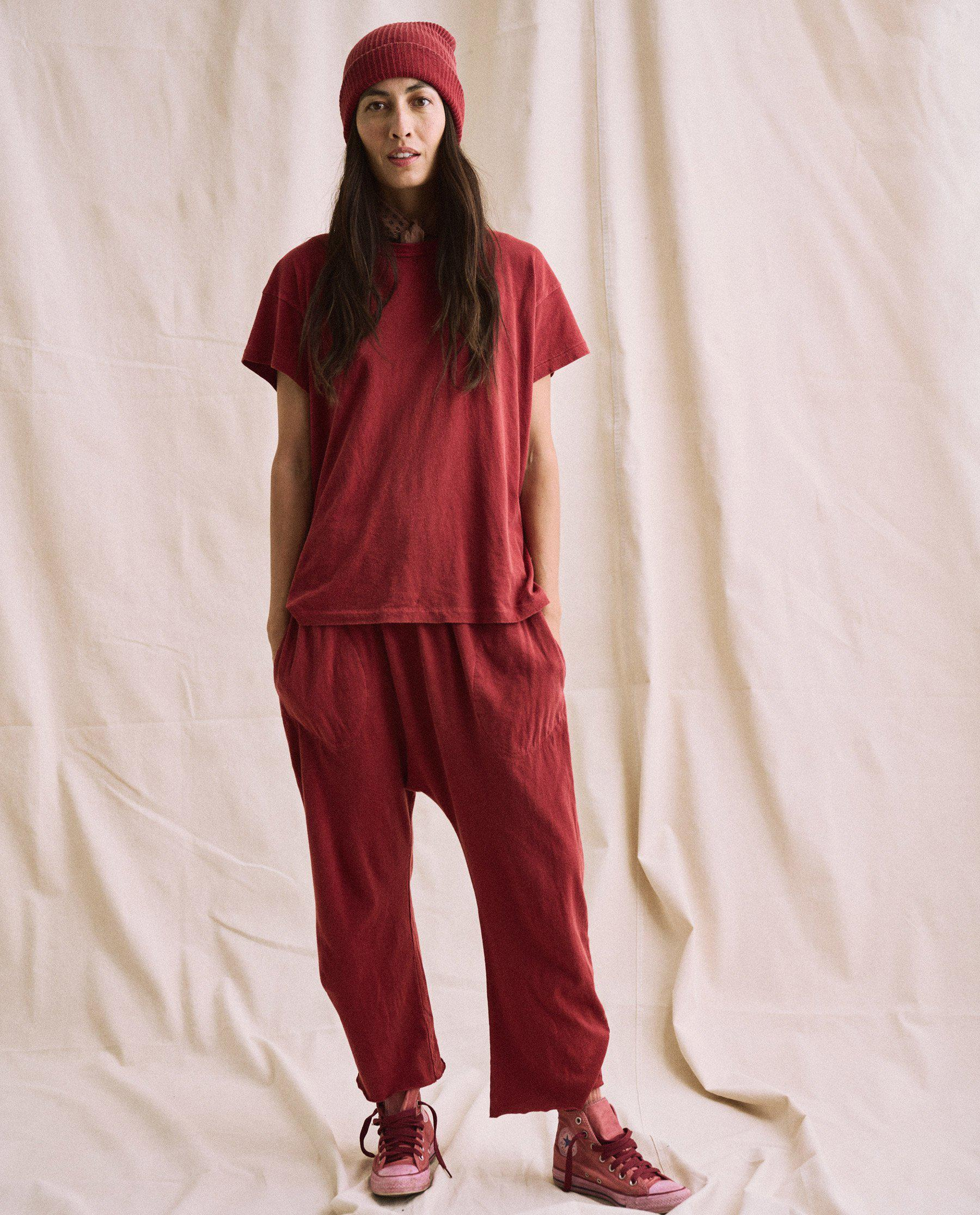 The Plant-Dyed Jersey Crop. -- Deep Madder Root