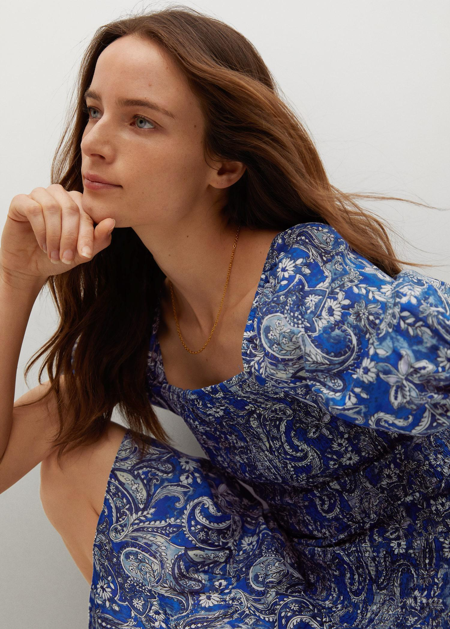 Printed ruched dress 3