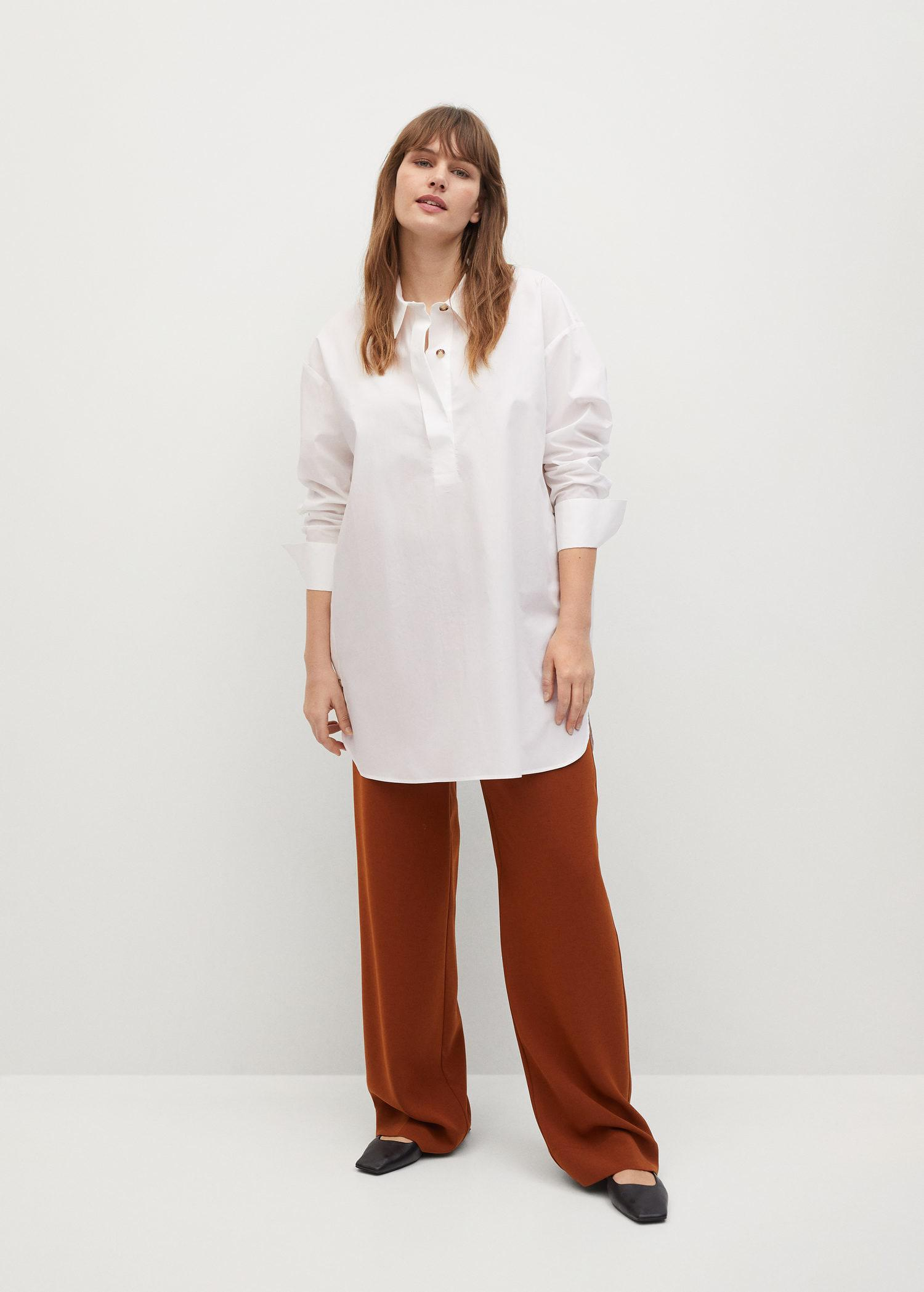 Shirt with side buttons