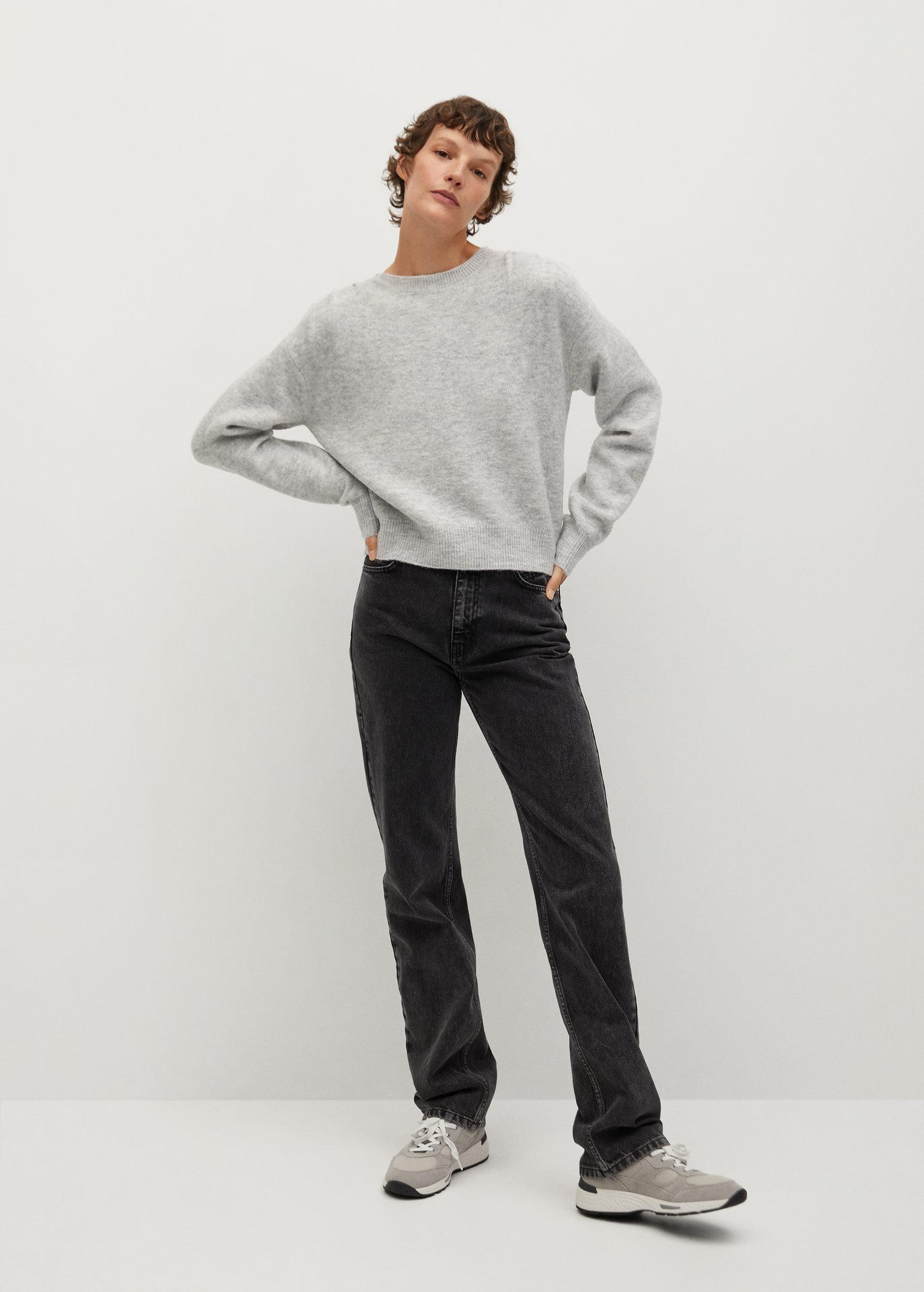 Pleated knit sweater 1