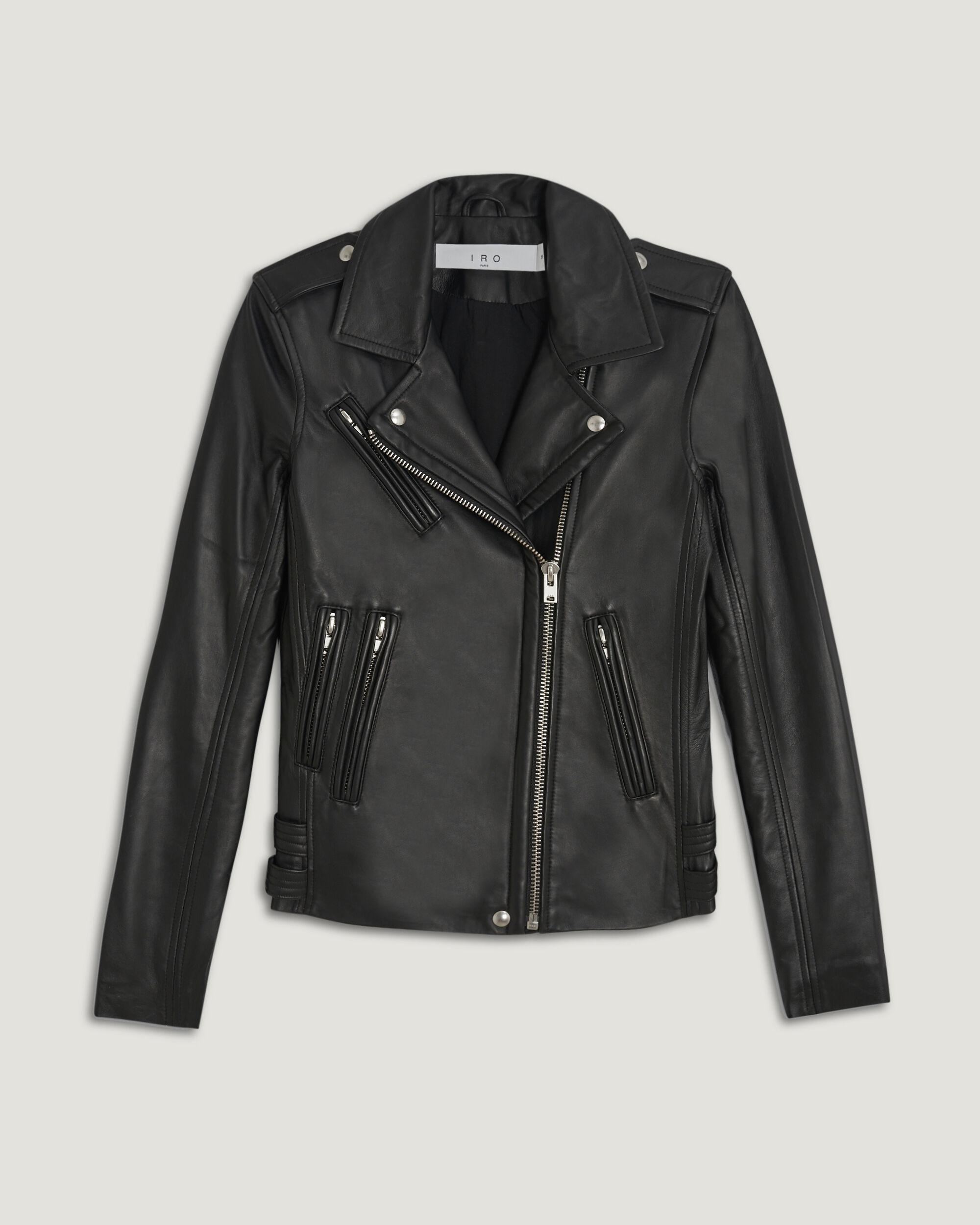 HAN LEATHER FITTED BIKER JACKET 4