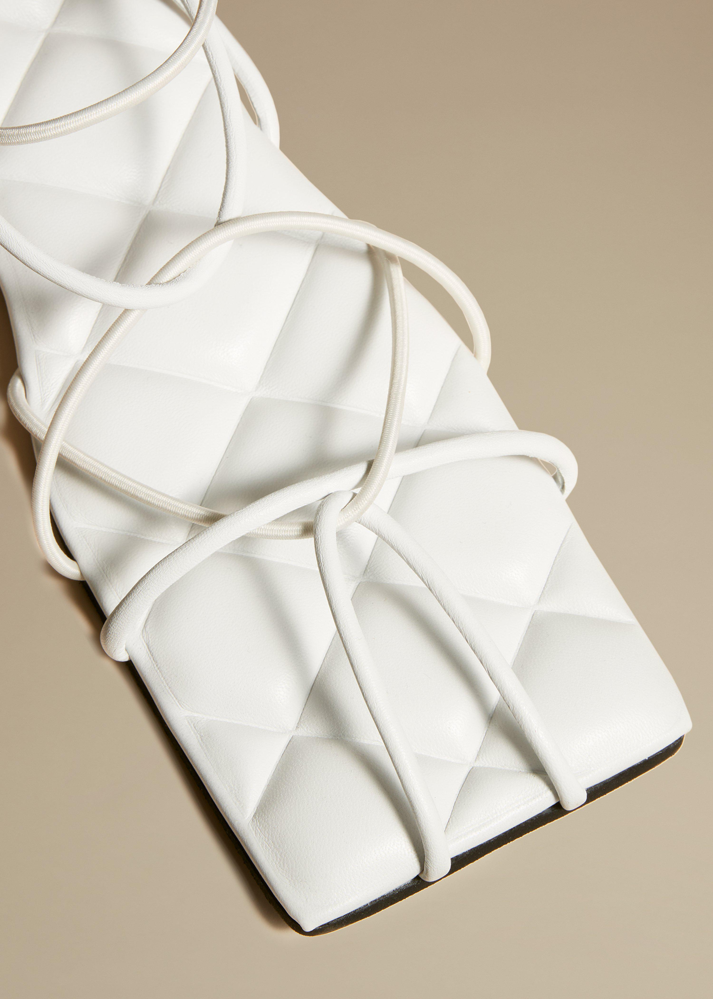 The Patras Sandal in White Leather 2