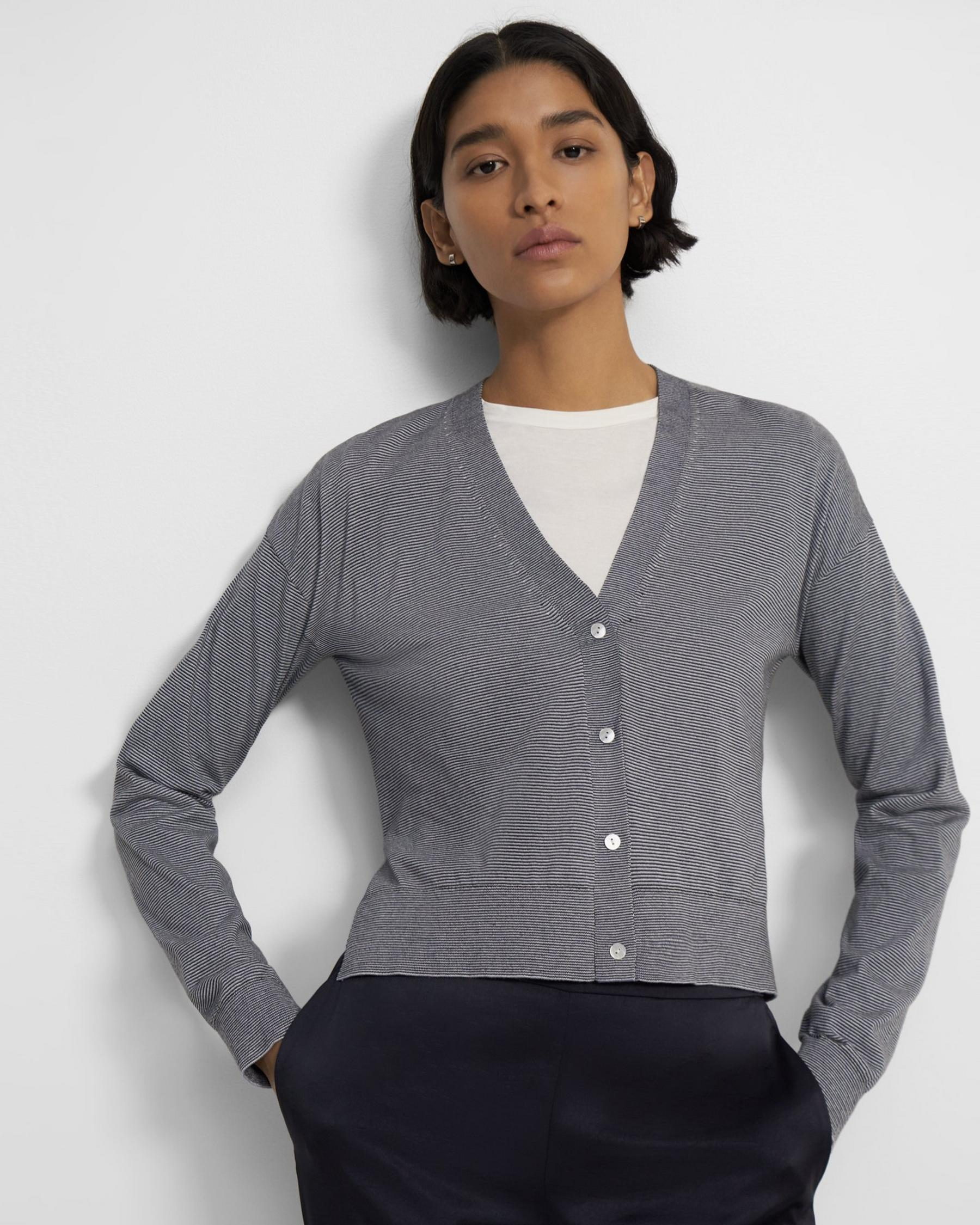 Cropped Cardigan in Cotton