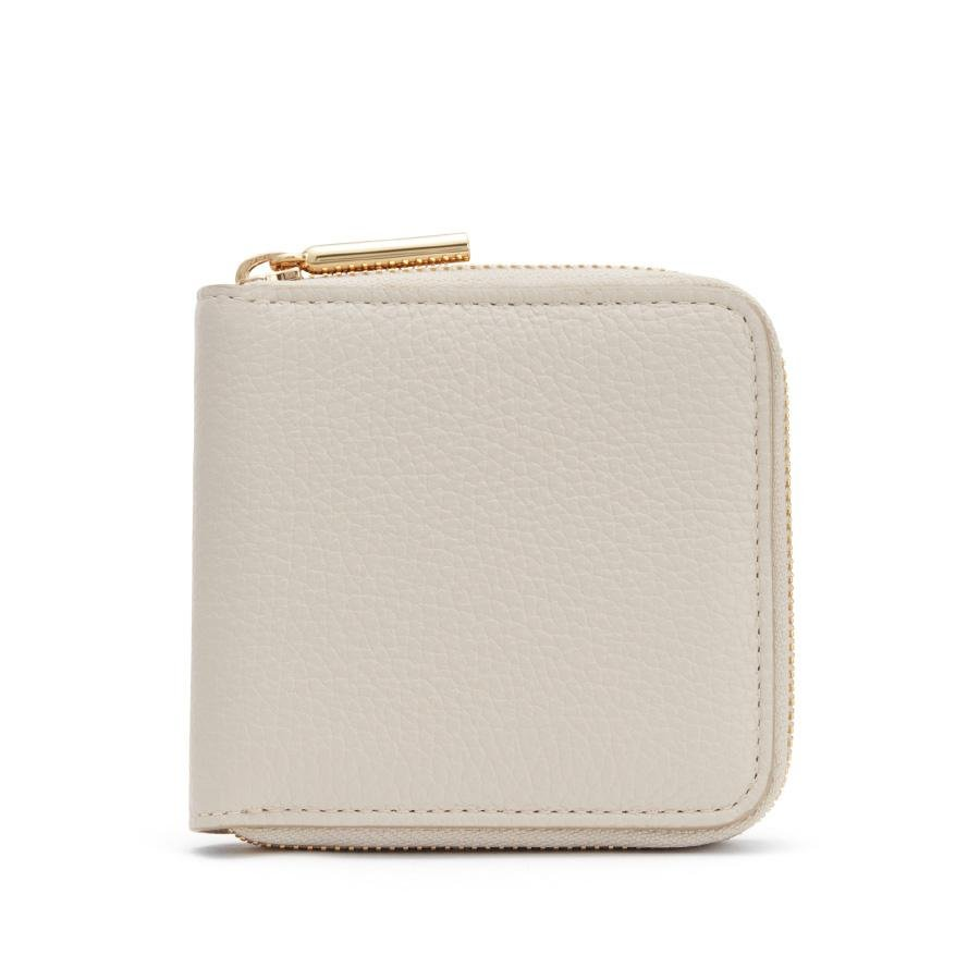 Women's Small Classic Zip Around Wallet in Light/Stone/Blush Pink | Pebbled Leather by Cuyana
