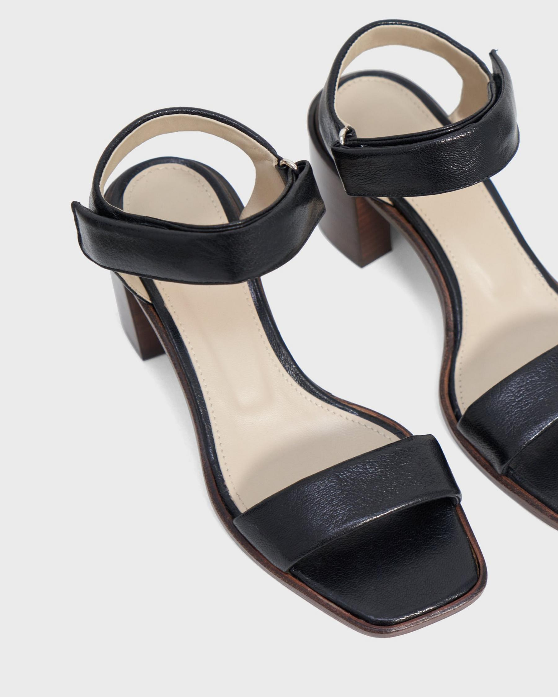 Mid-Ankle Strap Sandal in Leather