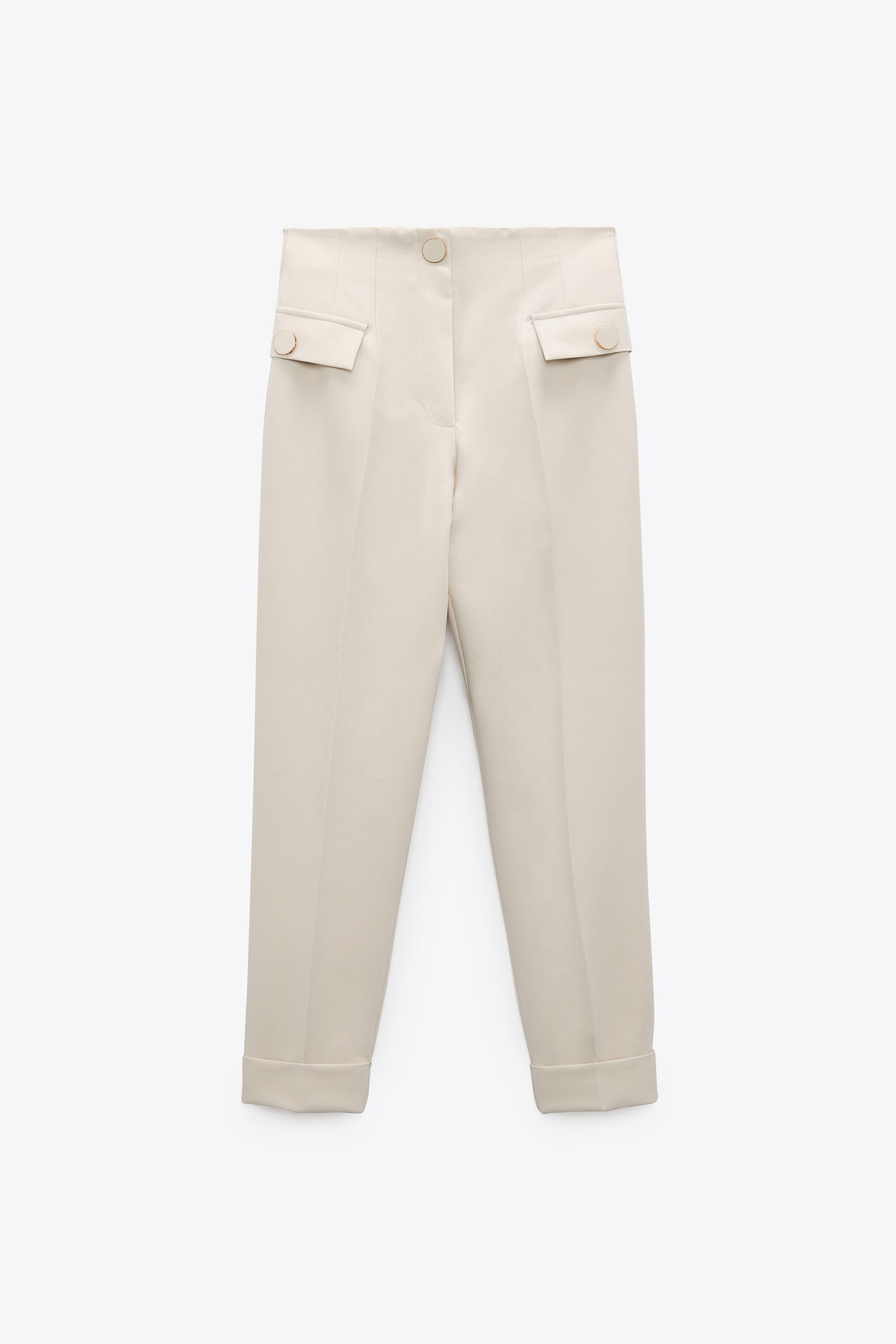 BUTTONED HIGH-WAISTED PANTS 4