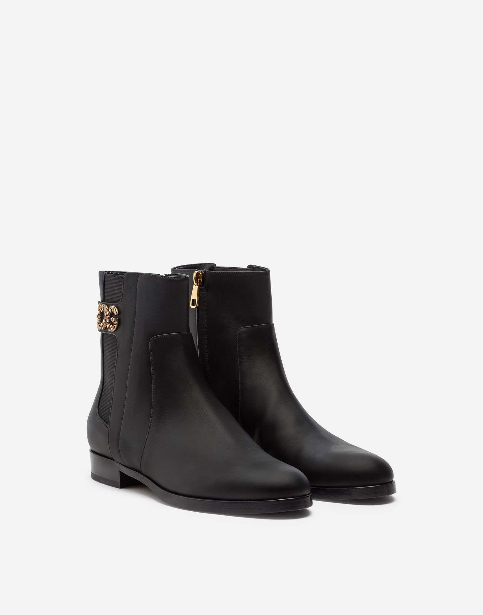 Calfskin nappa chelsea boots with DG logo 1