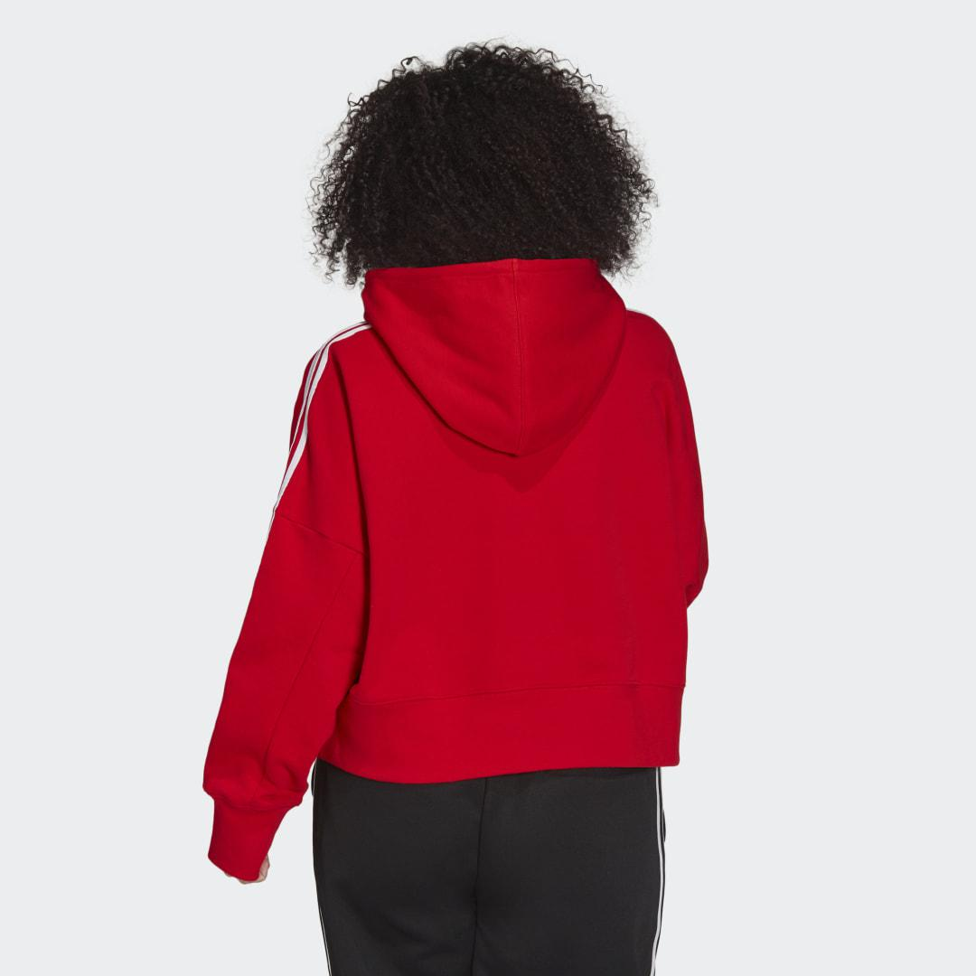 Adicolor Classics Cropped Hoodie (Plus Size) Red 1