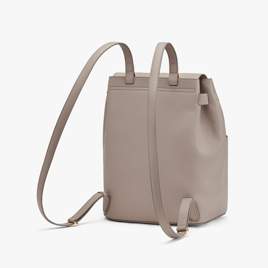 Women's Leather Backpack in Stone   Pebbled Leather by Cuyana 4