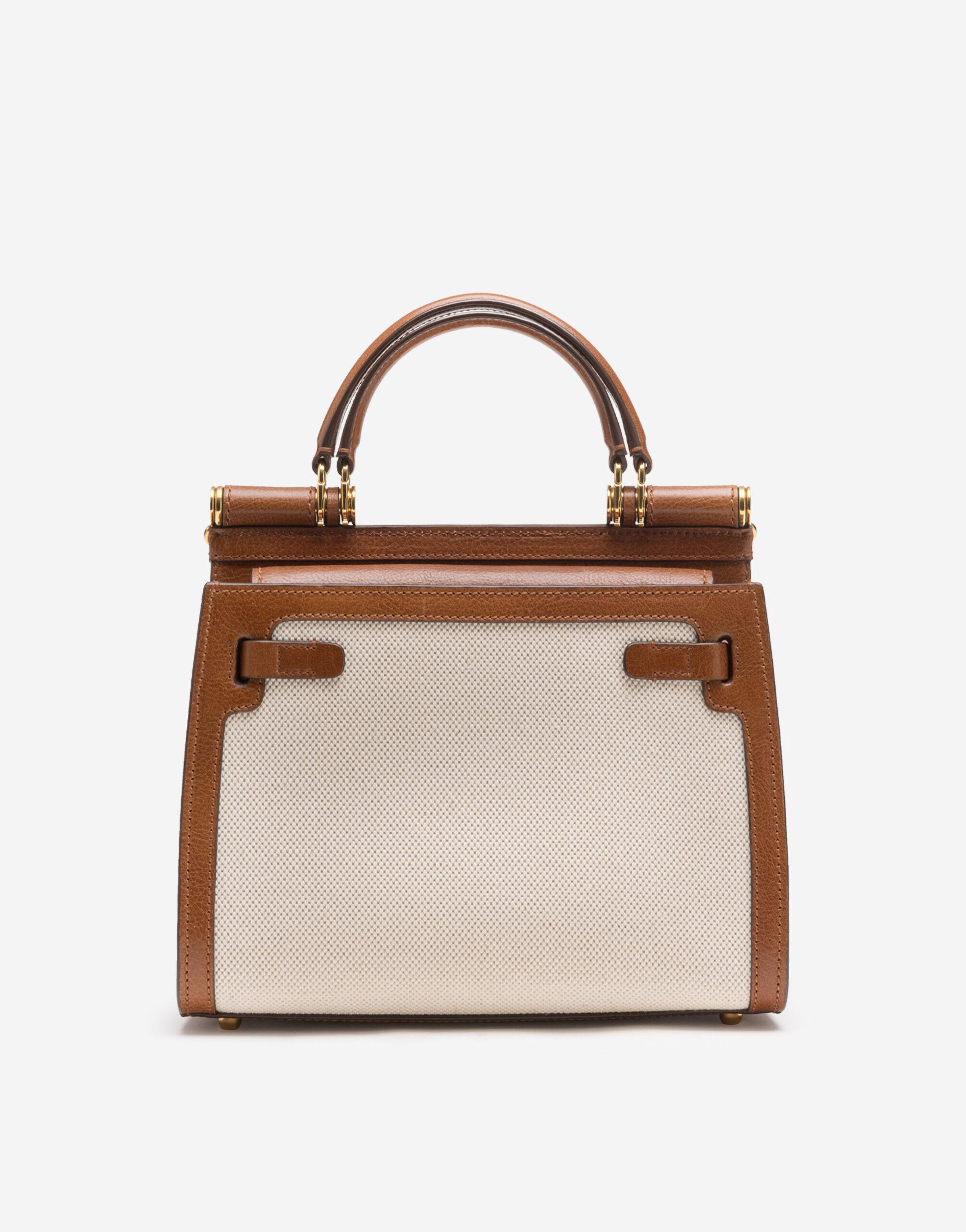 Medium Sicily 58 bag in canvas and cowhide 2