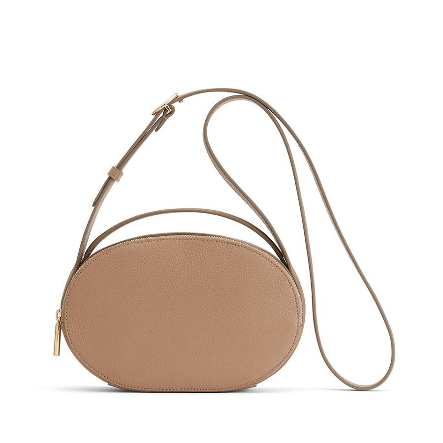 Women's Top Handle Crossbody Bag in Cappuccino | Pebbled Leather by Cuyana