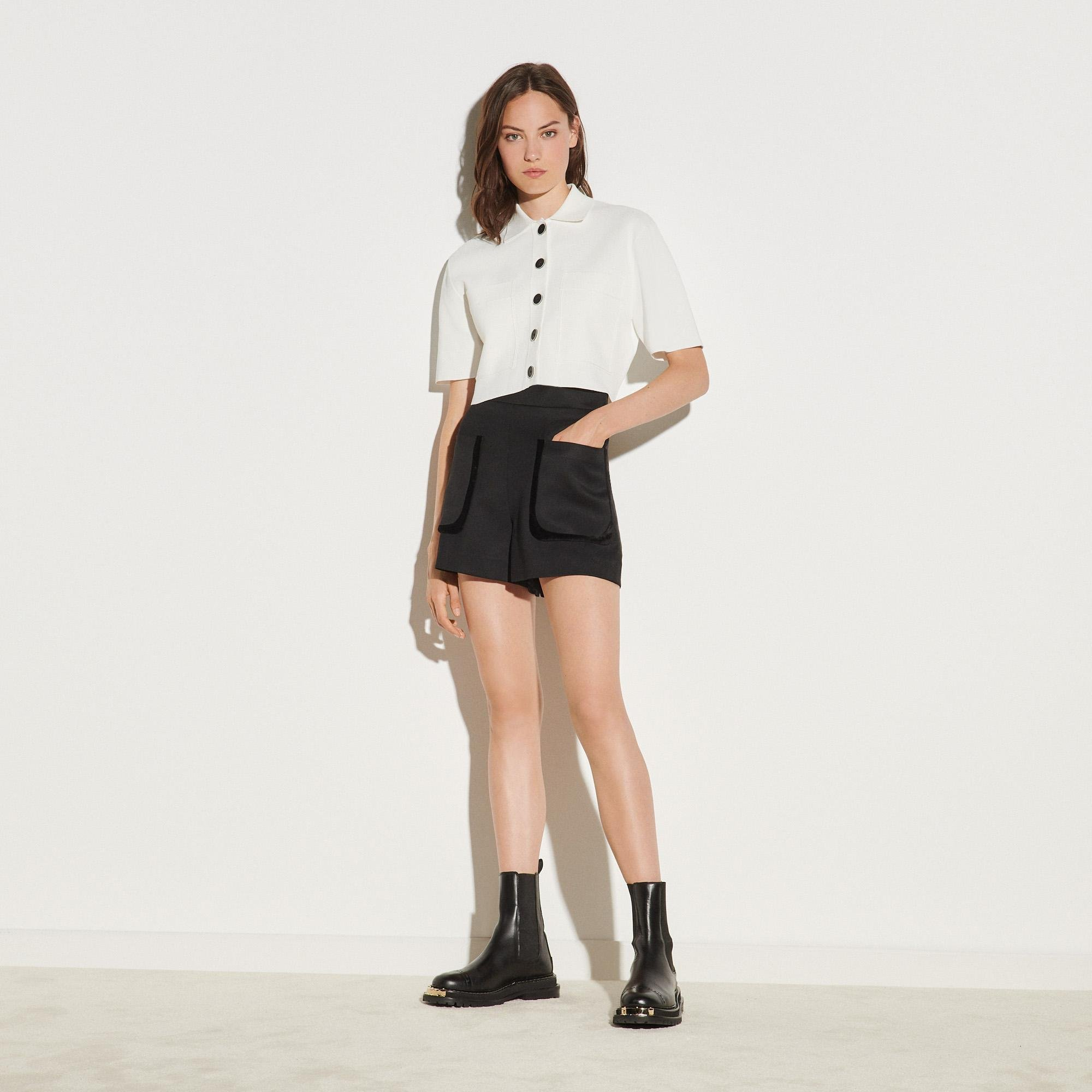 Shorts with large patch pockets