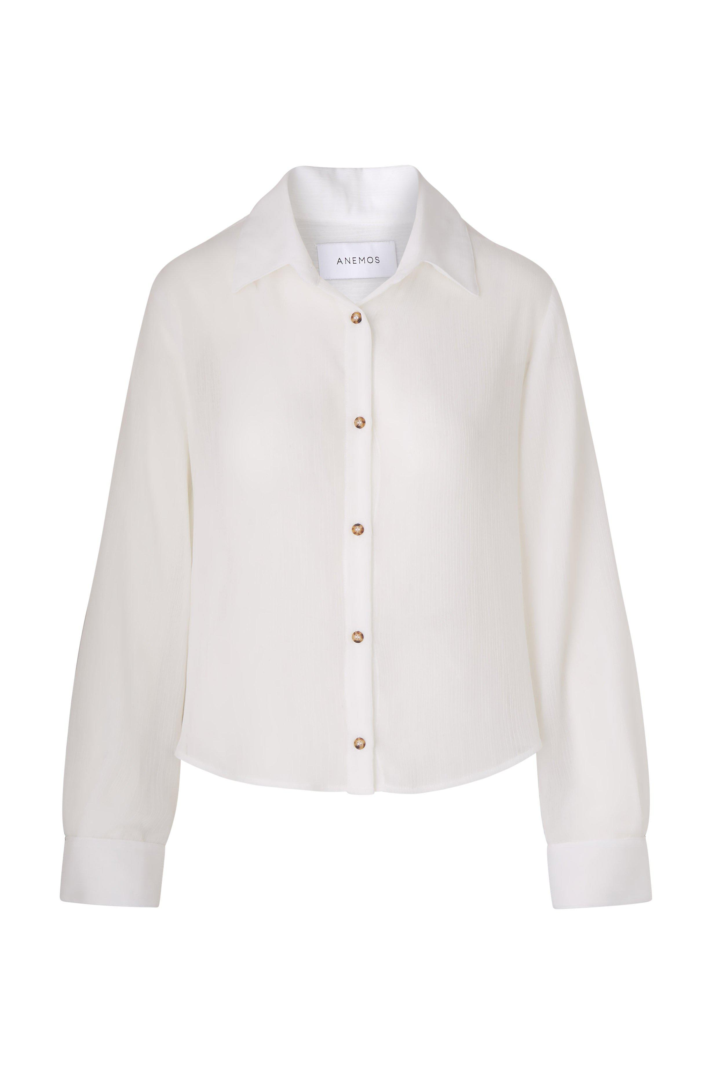 The Phillips Long Sleeve Button-Down Shirt in Sheer Yoryu Crinkle