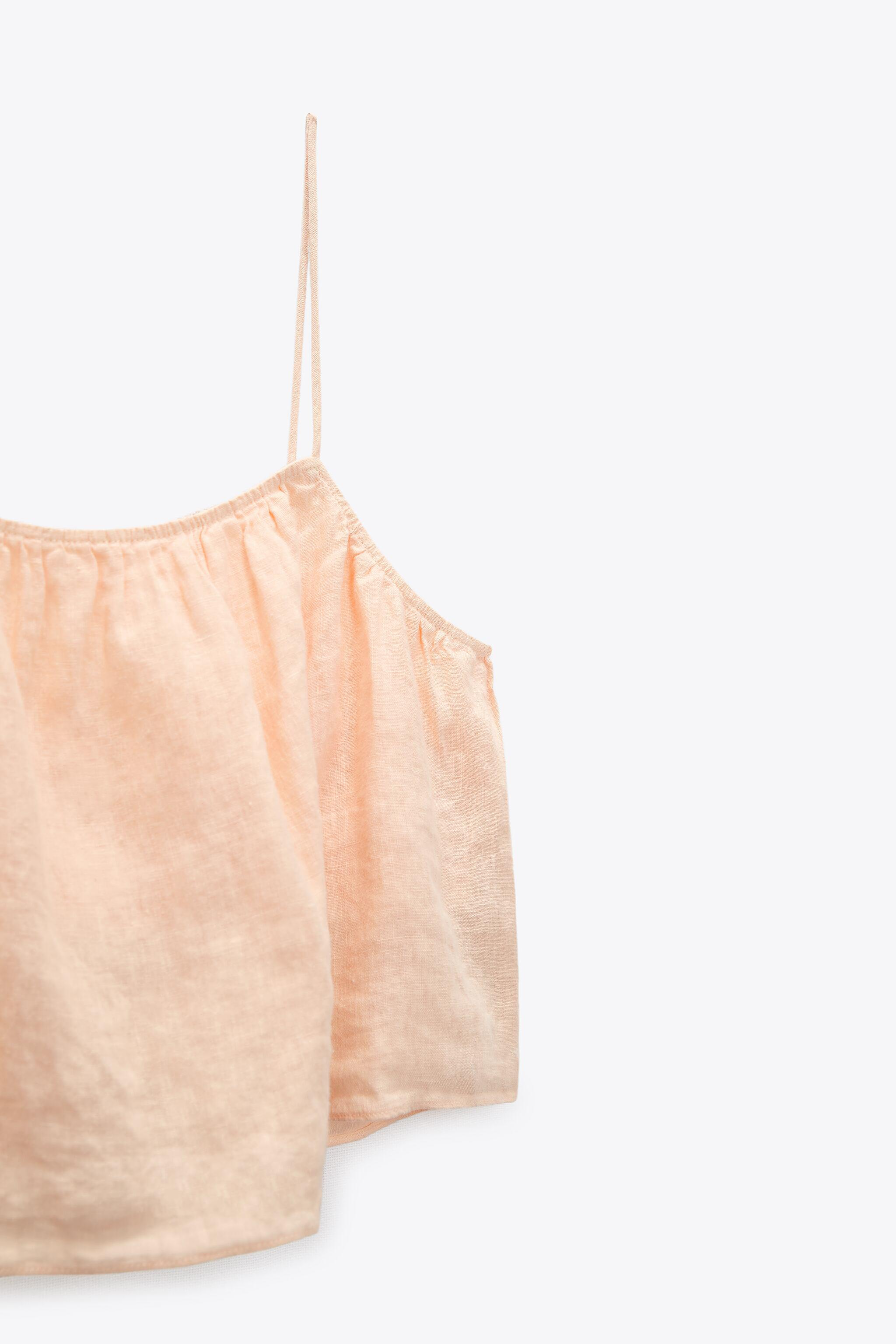 CROPPED LINEN TOP 4