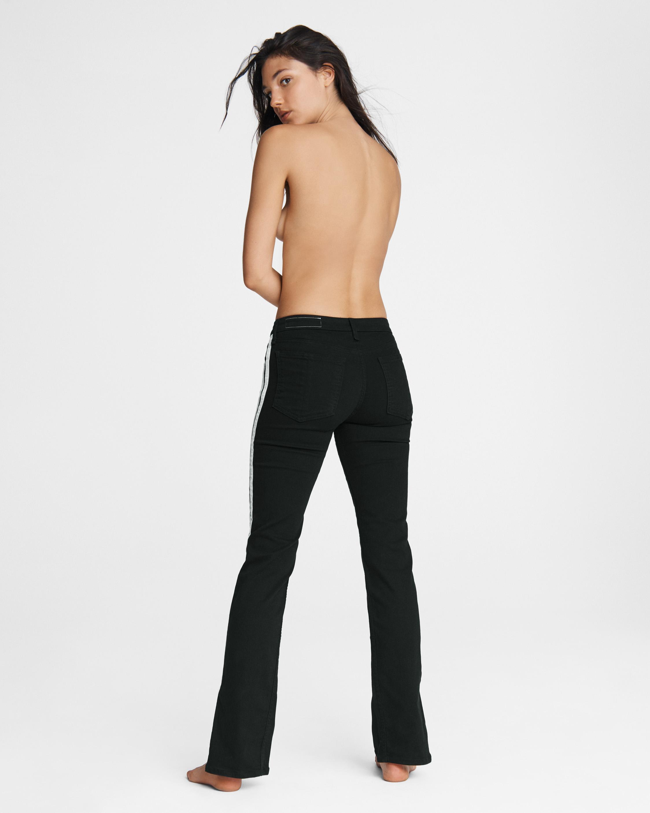 Cate mid-rise flare - clean black 3