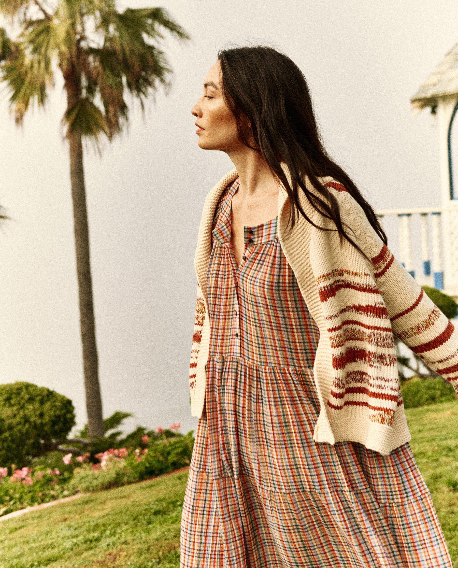 The Landscape Lodge Cardigan. -- Cream with Red Marl 2