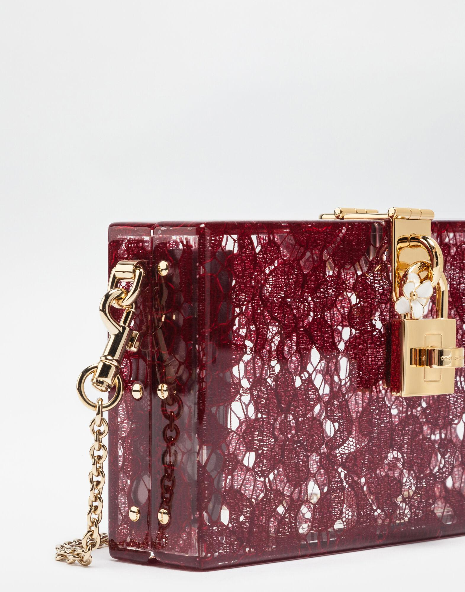 Dolce Box clutch in plexiglass and lace 1