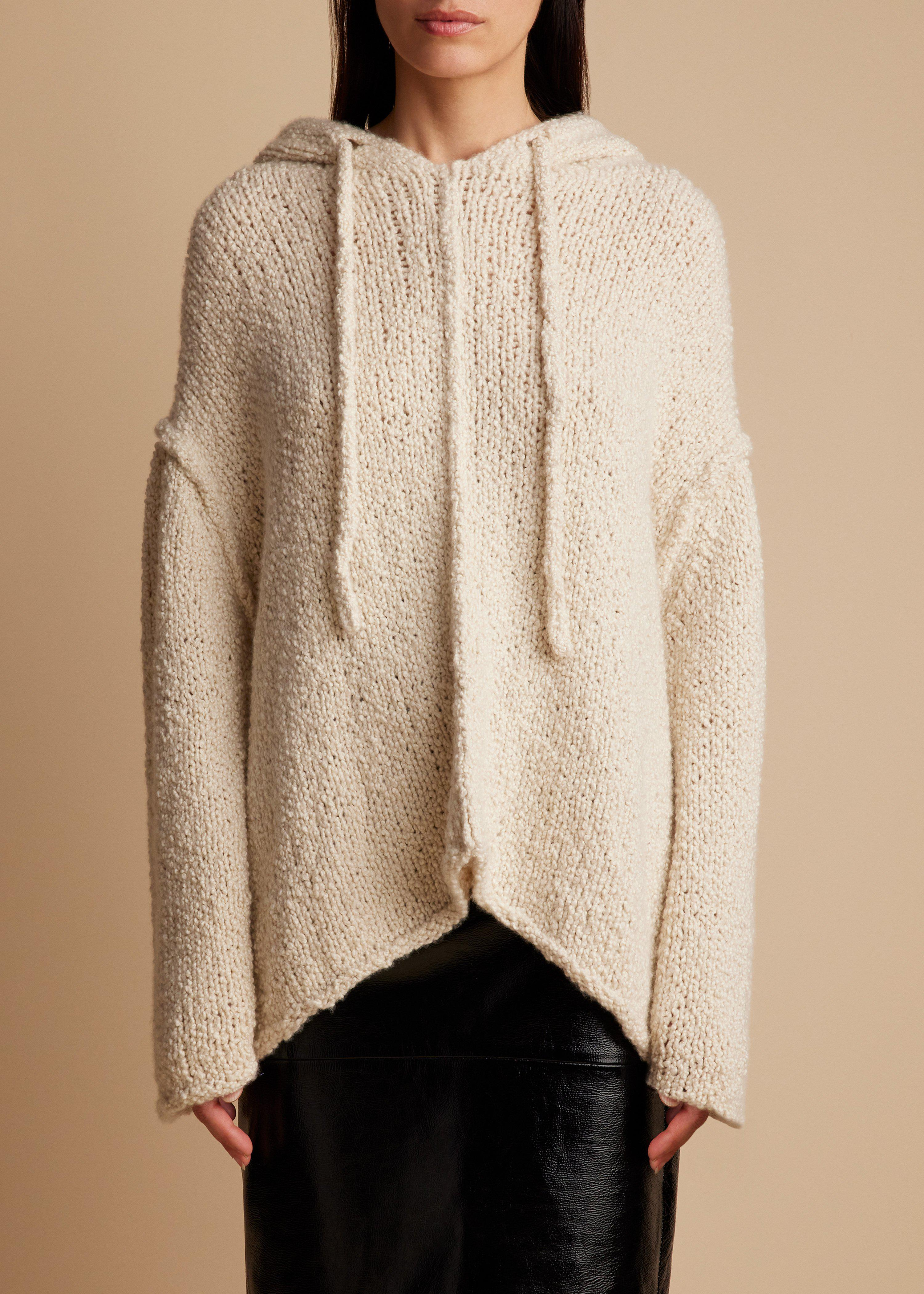 The Sile Hoodie in Ivory