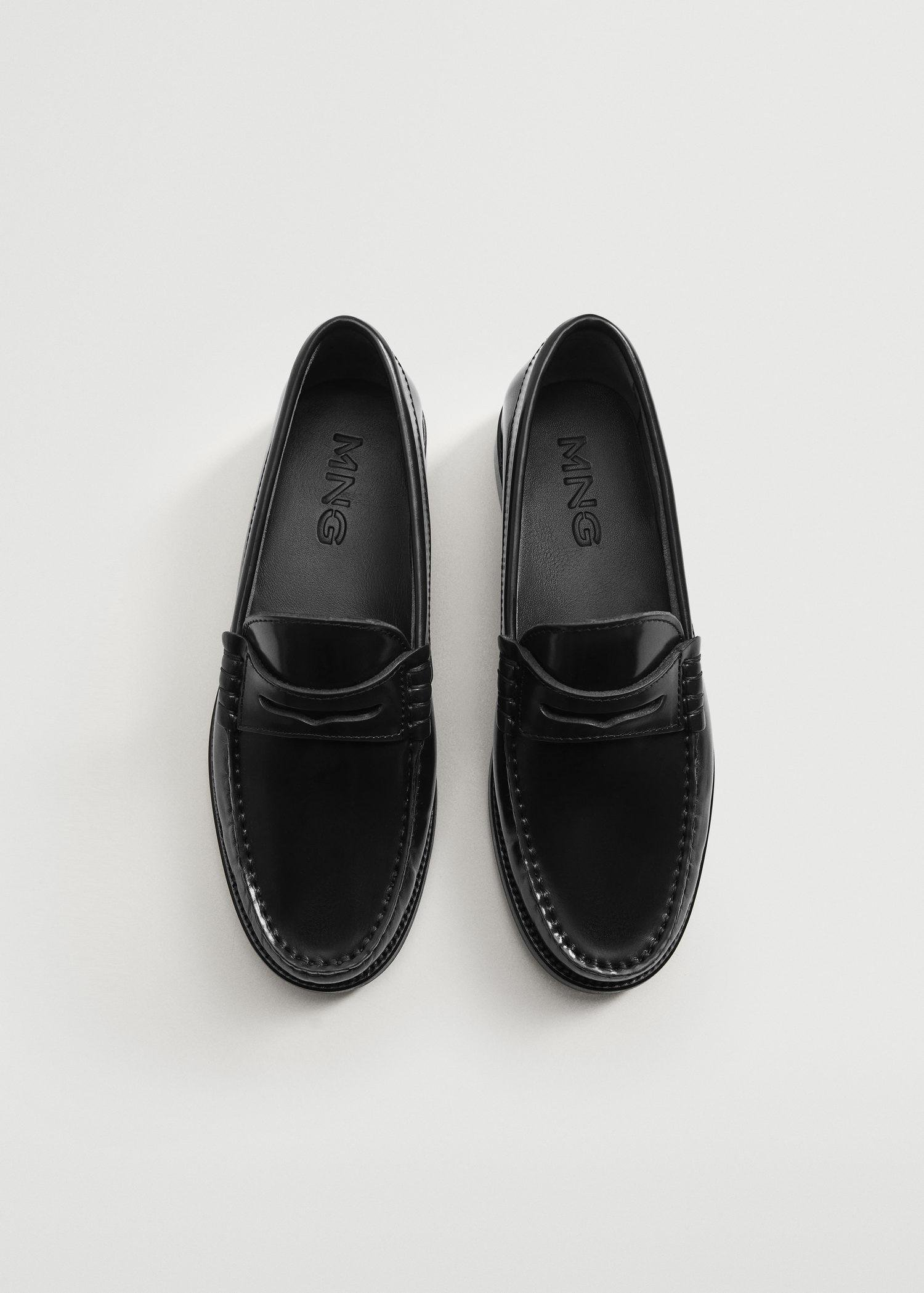 Leather penny loafers 3