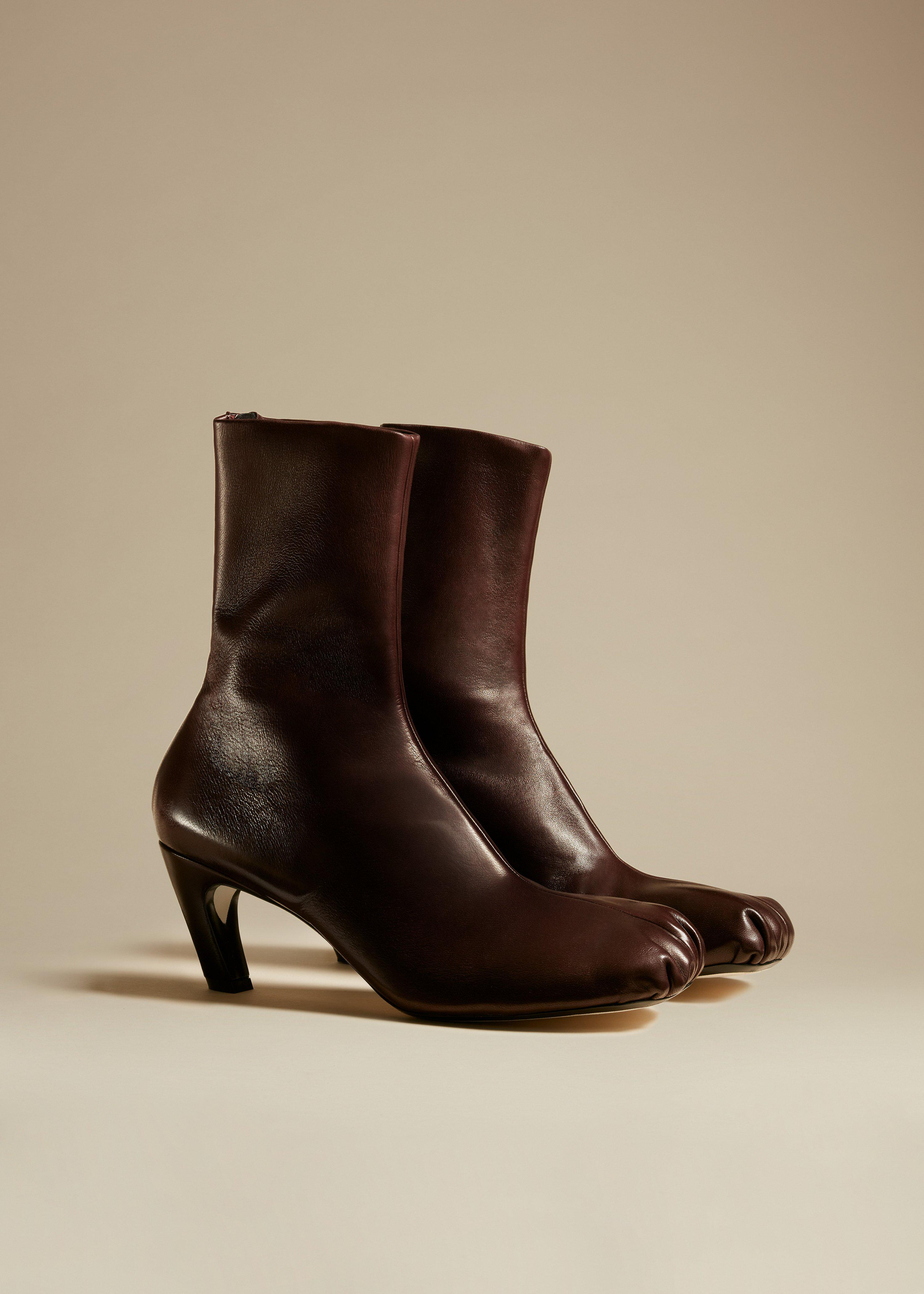 The Normandy Boot in Bordeaux Leather 1