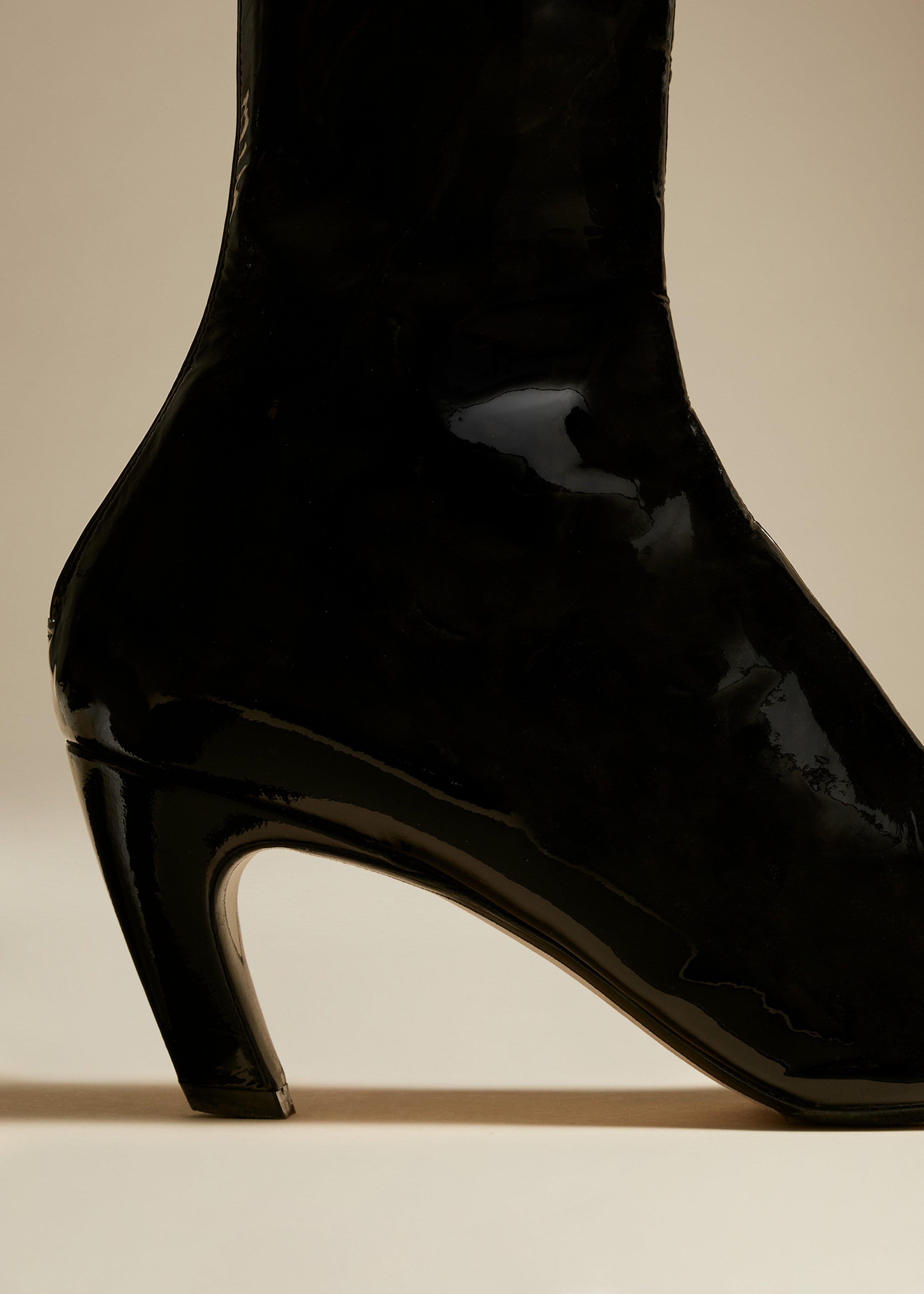 The Normandy Boot in Black Patent Leather 2