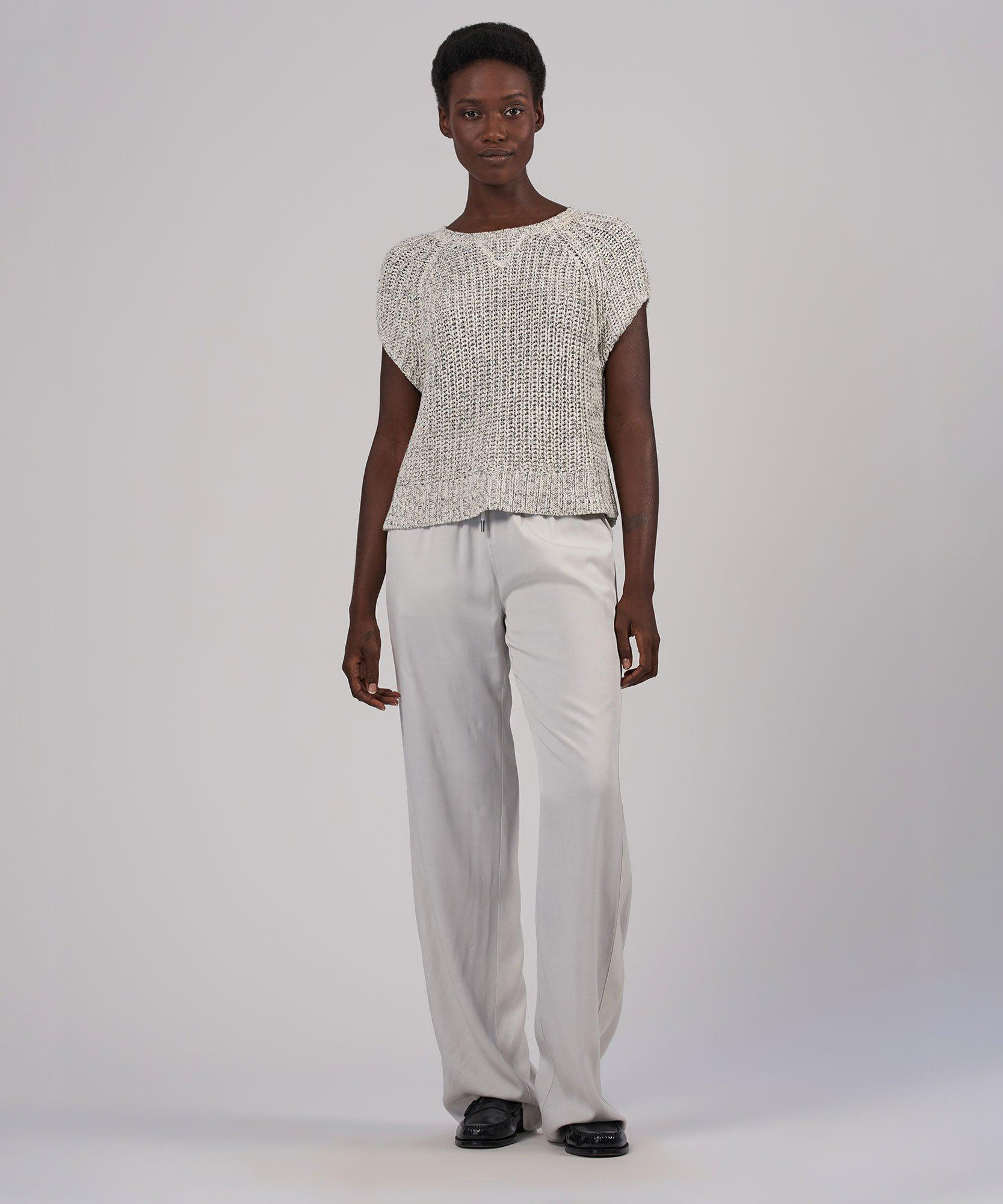 Viscose Twill Wide Leg Pull-On Pant - Gesso 5