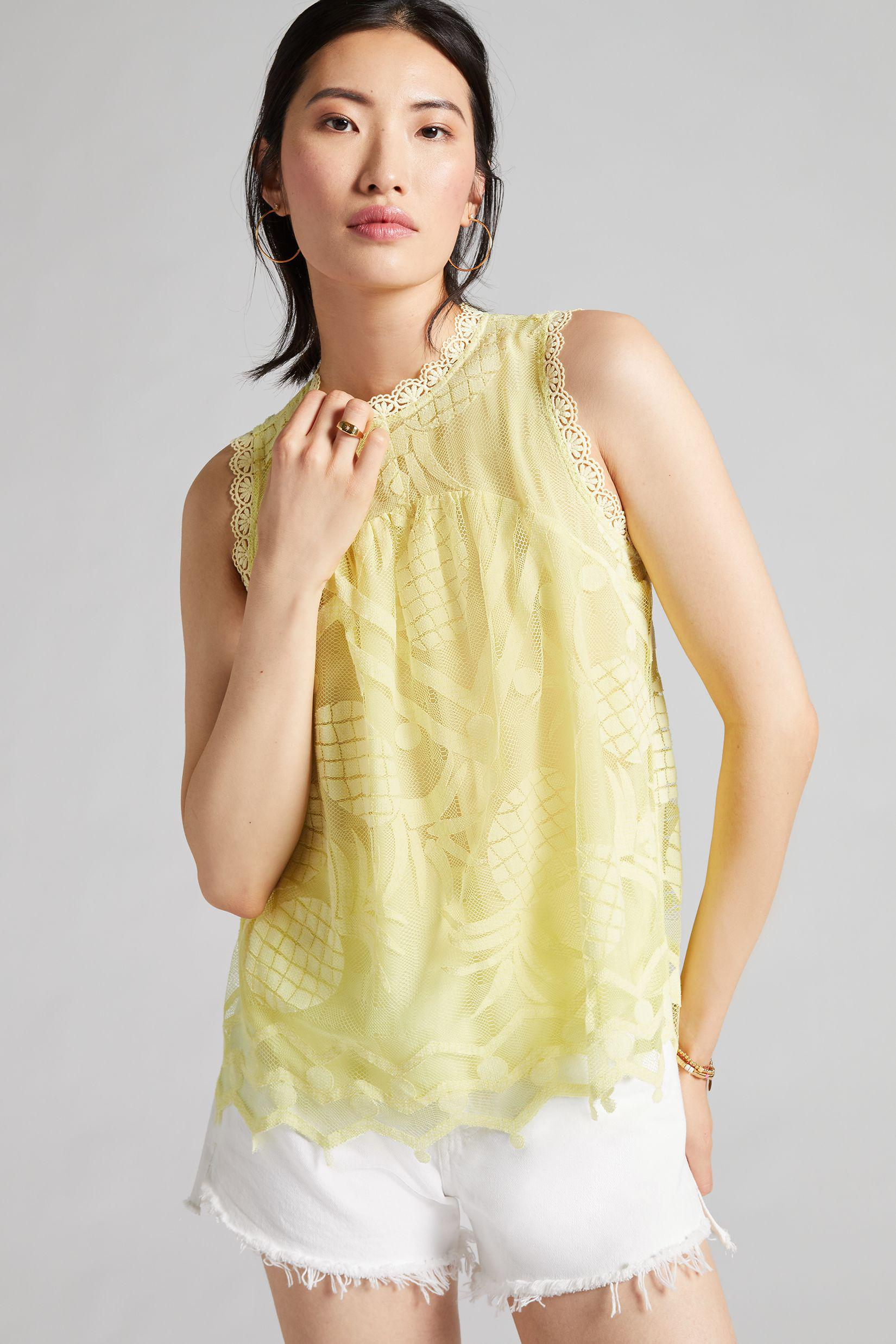 Maeve Pineapple Lace Blouse