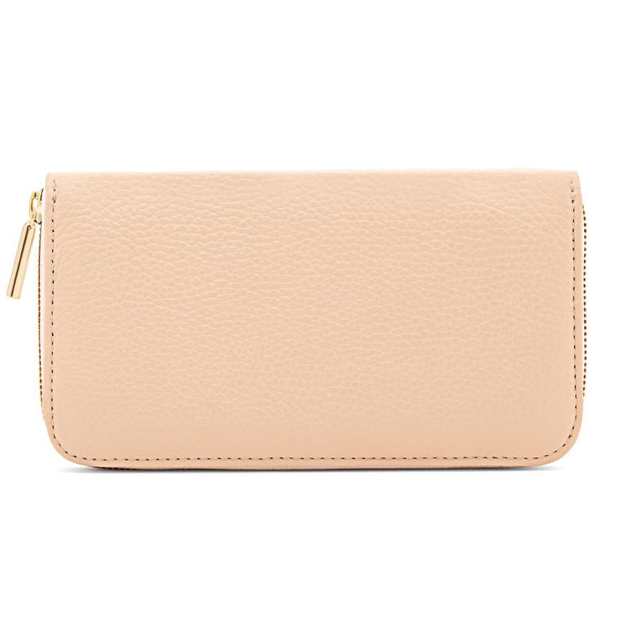 Women's Classic Zip Around Wallet in Blush Pink/Ecru | Pebbled Leather by Cuyana