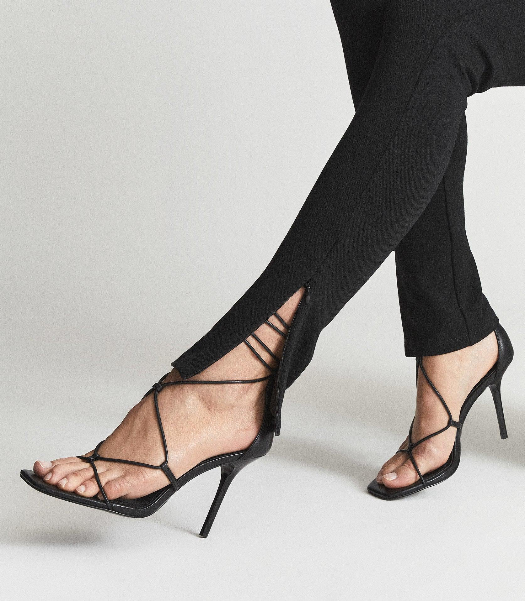 KALI - LEATHER STRAPPY WRAP SANDALS 5