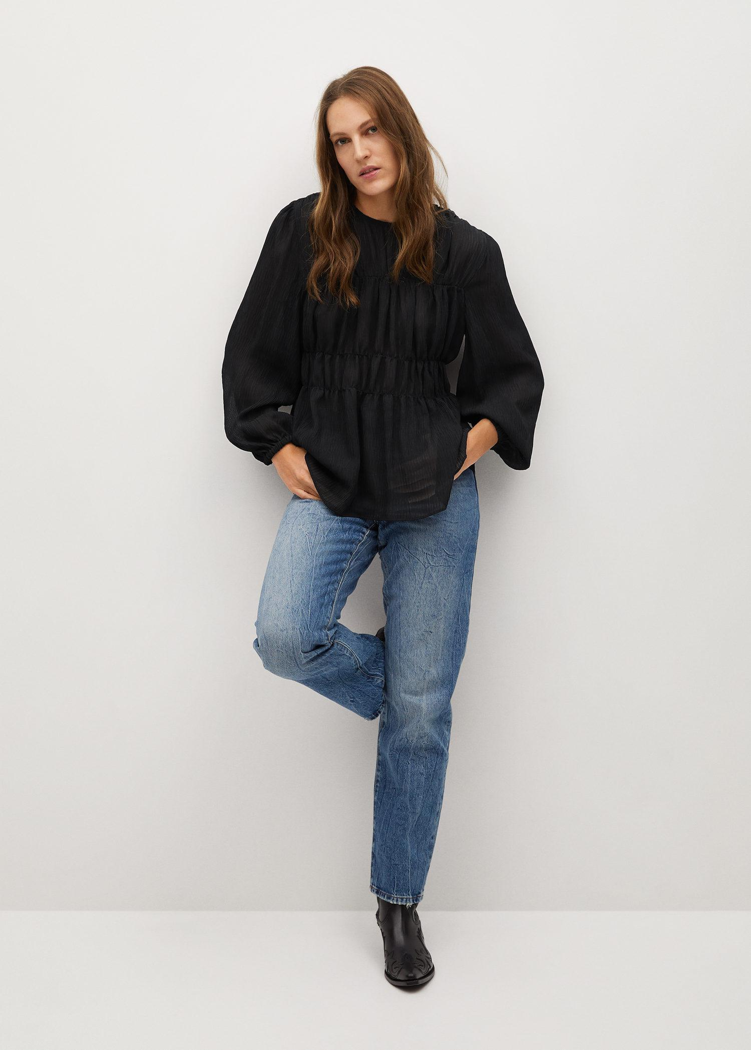 Pleated-texture blouse 1