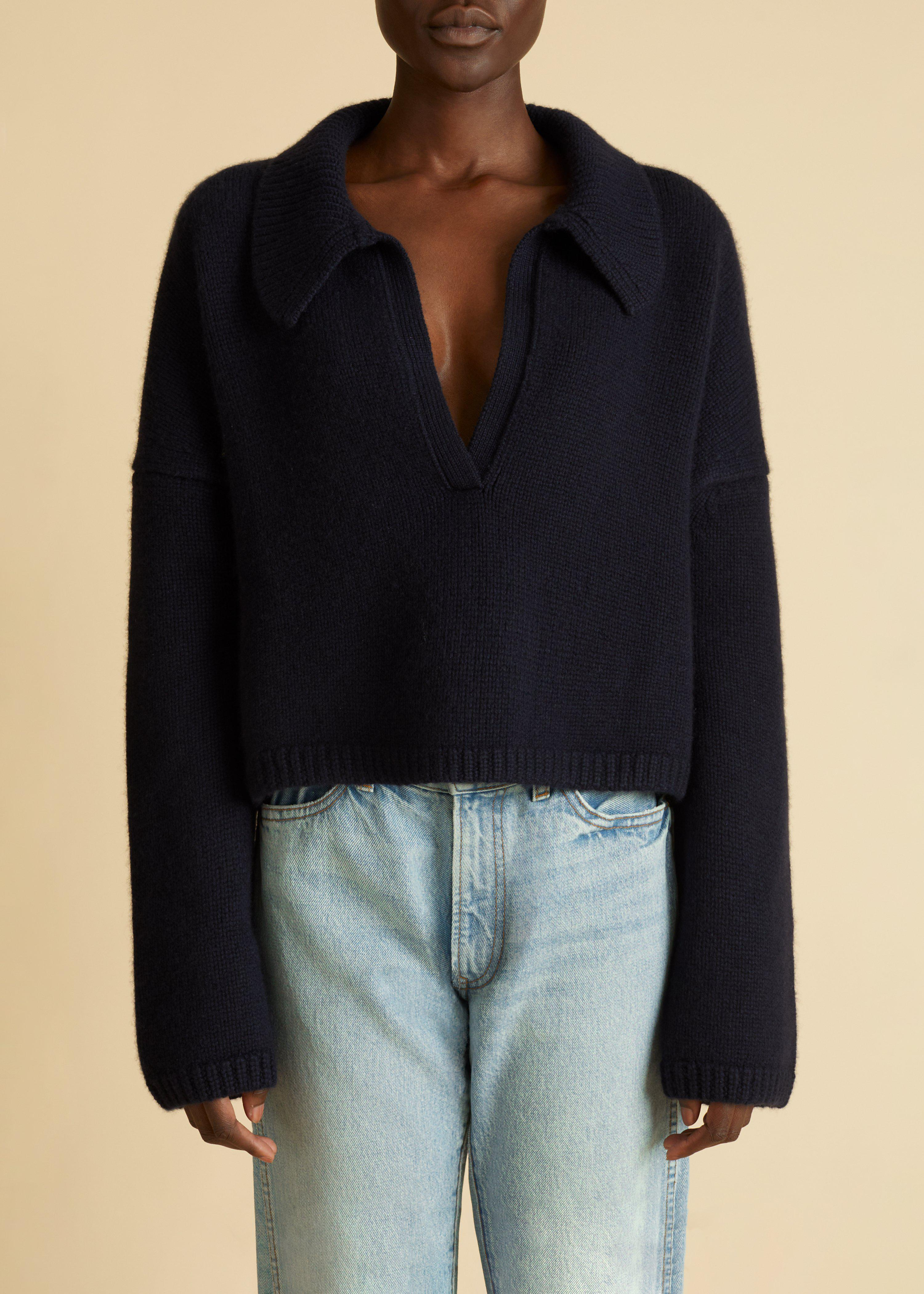 The Shelly Sweater in Navy