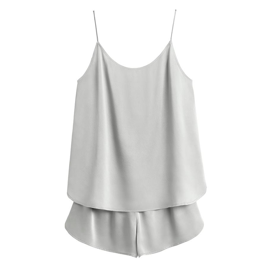 Women's Washable Charmeuse Cami Top Sleep Set in Sage | Size: