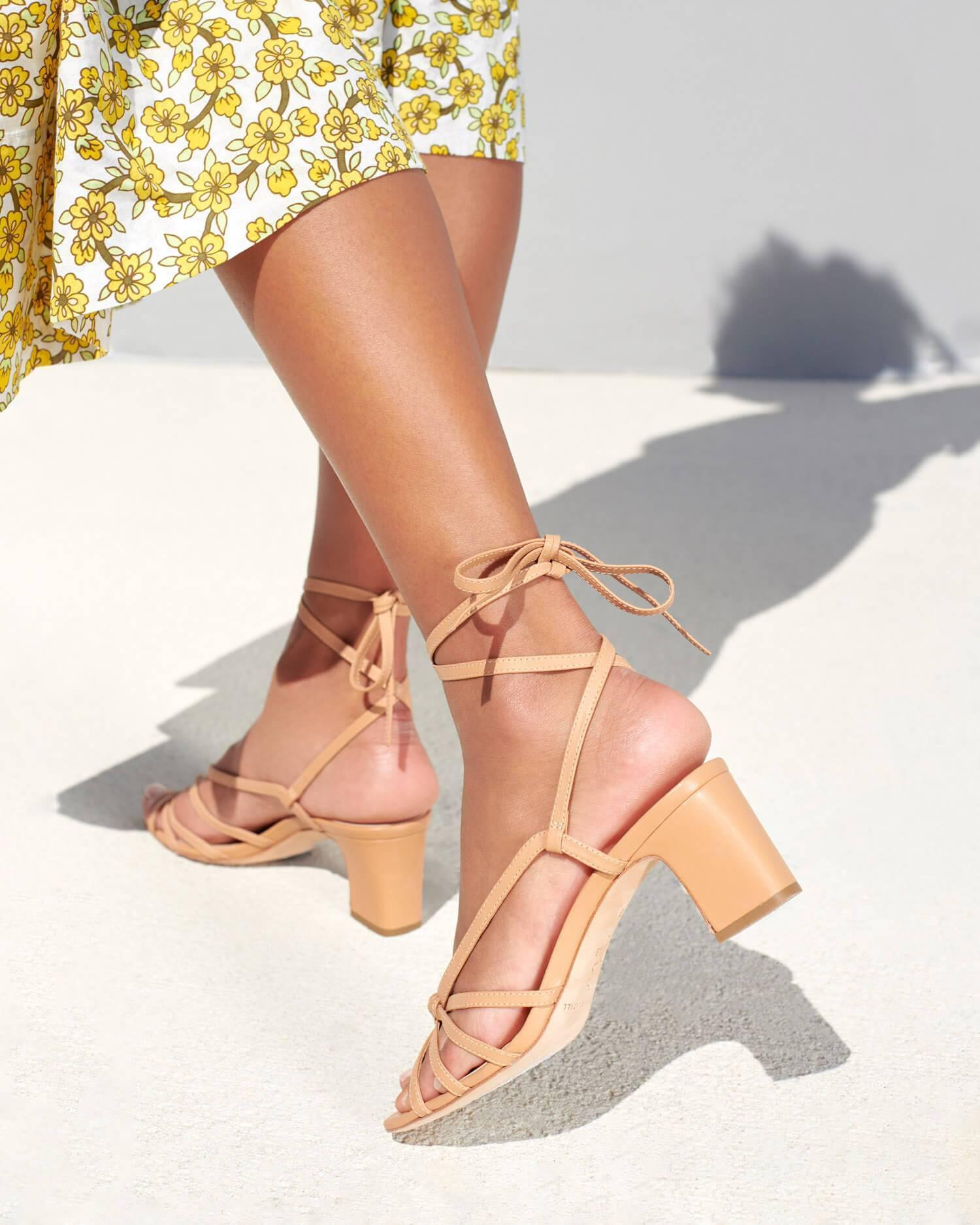 Libby Knotted Wrap Sandal Dune 4