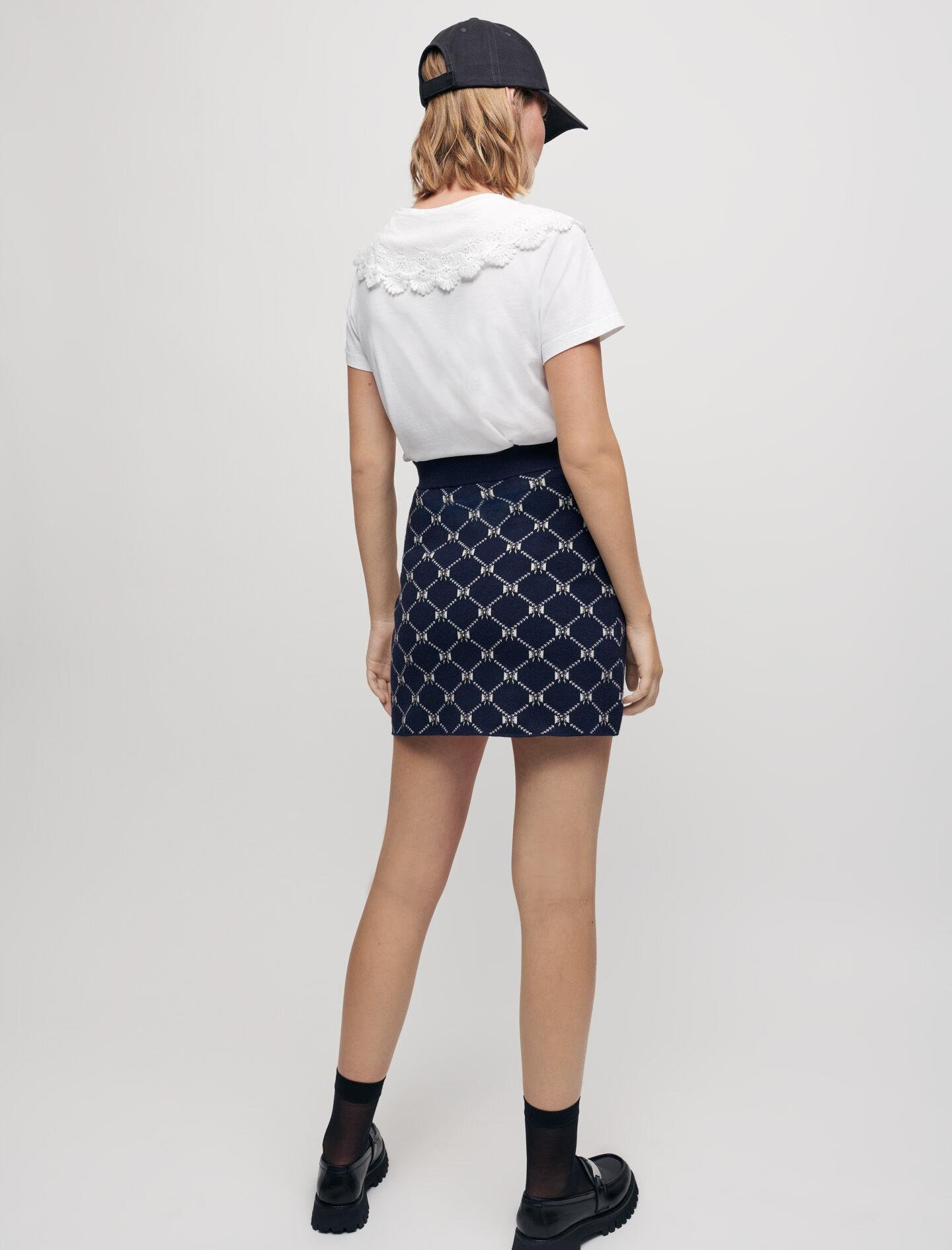 JACQUARD KNIT SKIRT WITH BOWS 3