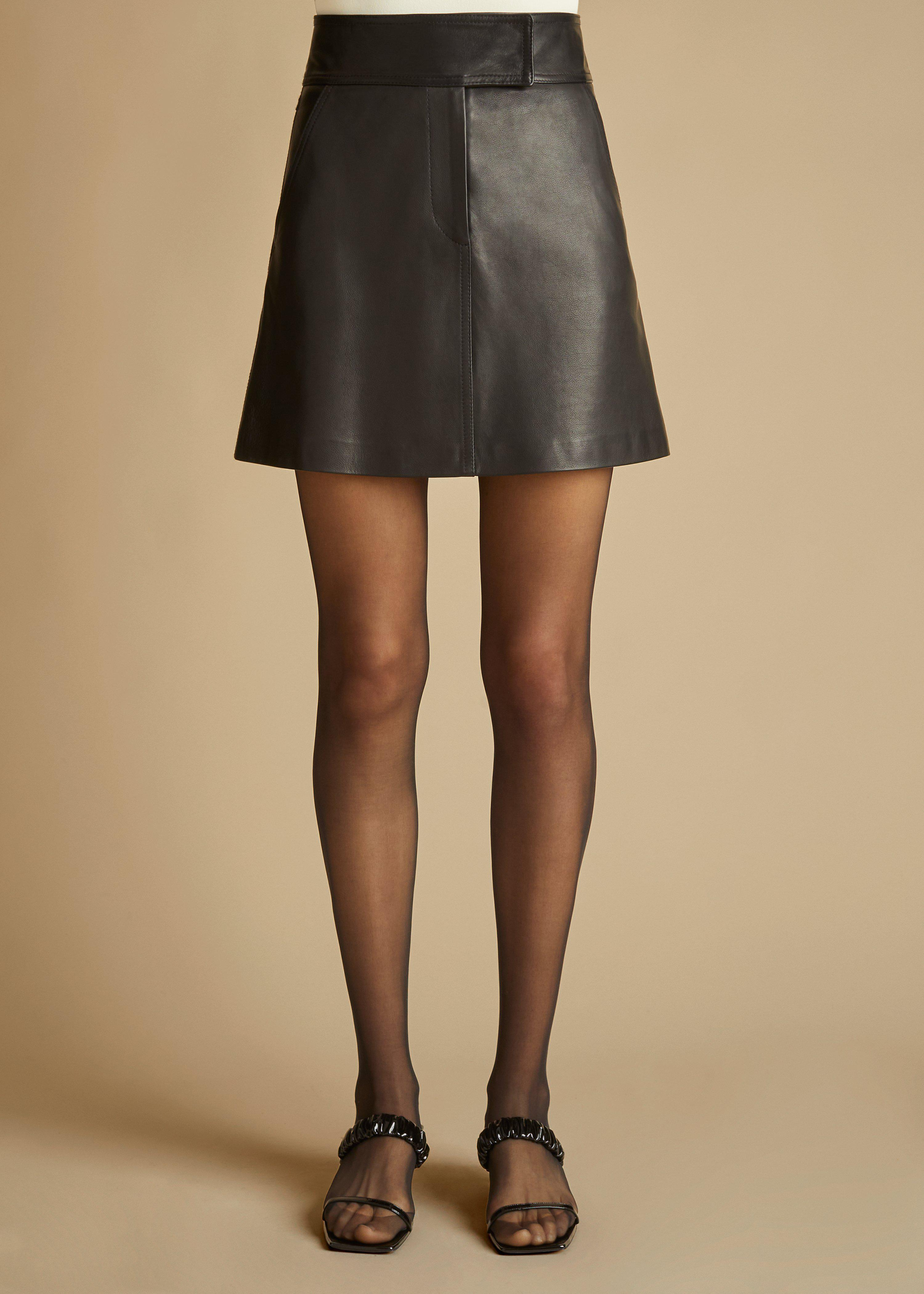 The Giulia Skirt in Black Leather 1