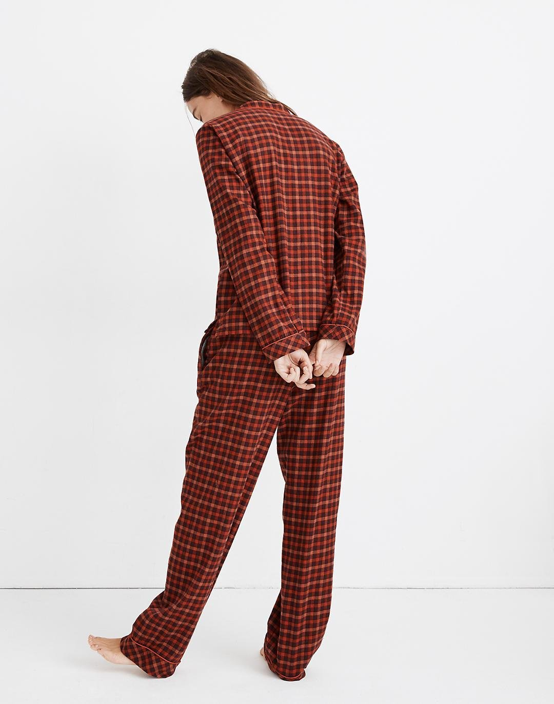 Flannel Bedtime Pajama Set in Plaid 2